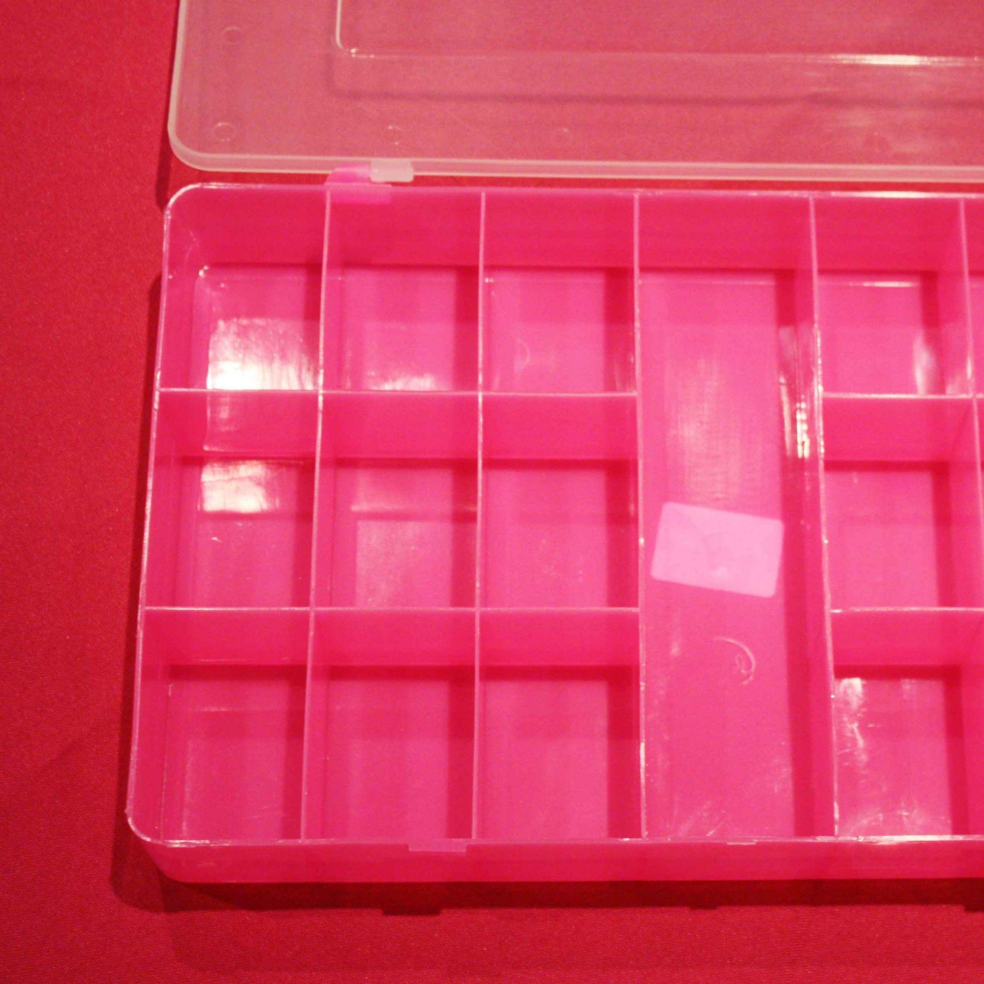 Caixa Organizadora - Rosa - 30cm  - Stéphanie Bijoux® - Peças para Bijuterias e Artesanato