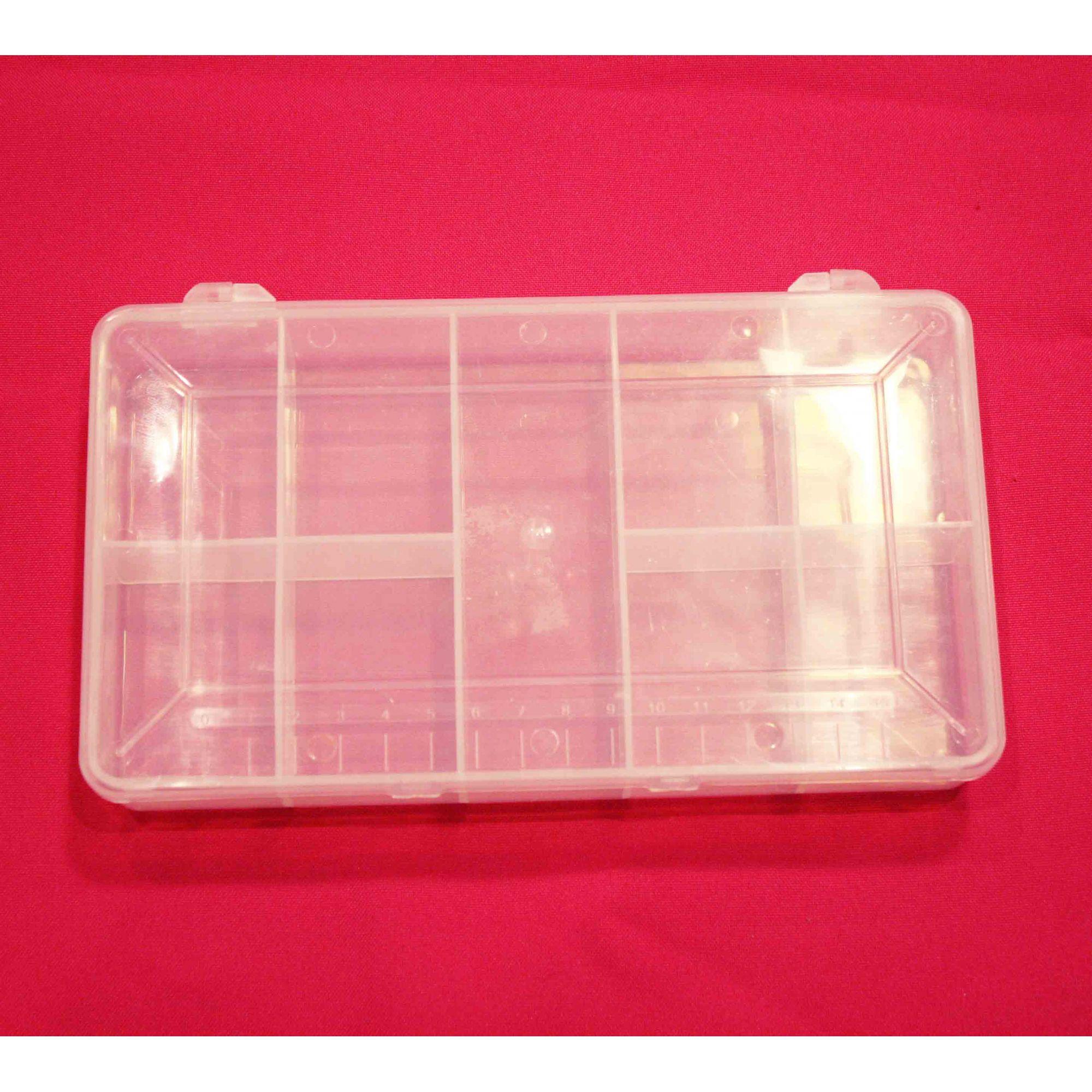 Caixa Organizadora - Transparente - 20cm  - Stéphanie Bijoux® - Peças para Bijuterias e Artesanato
