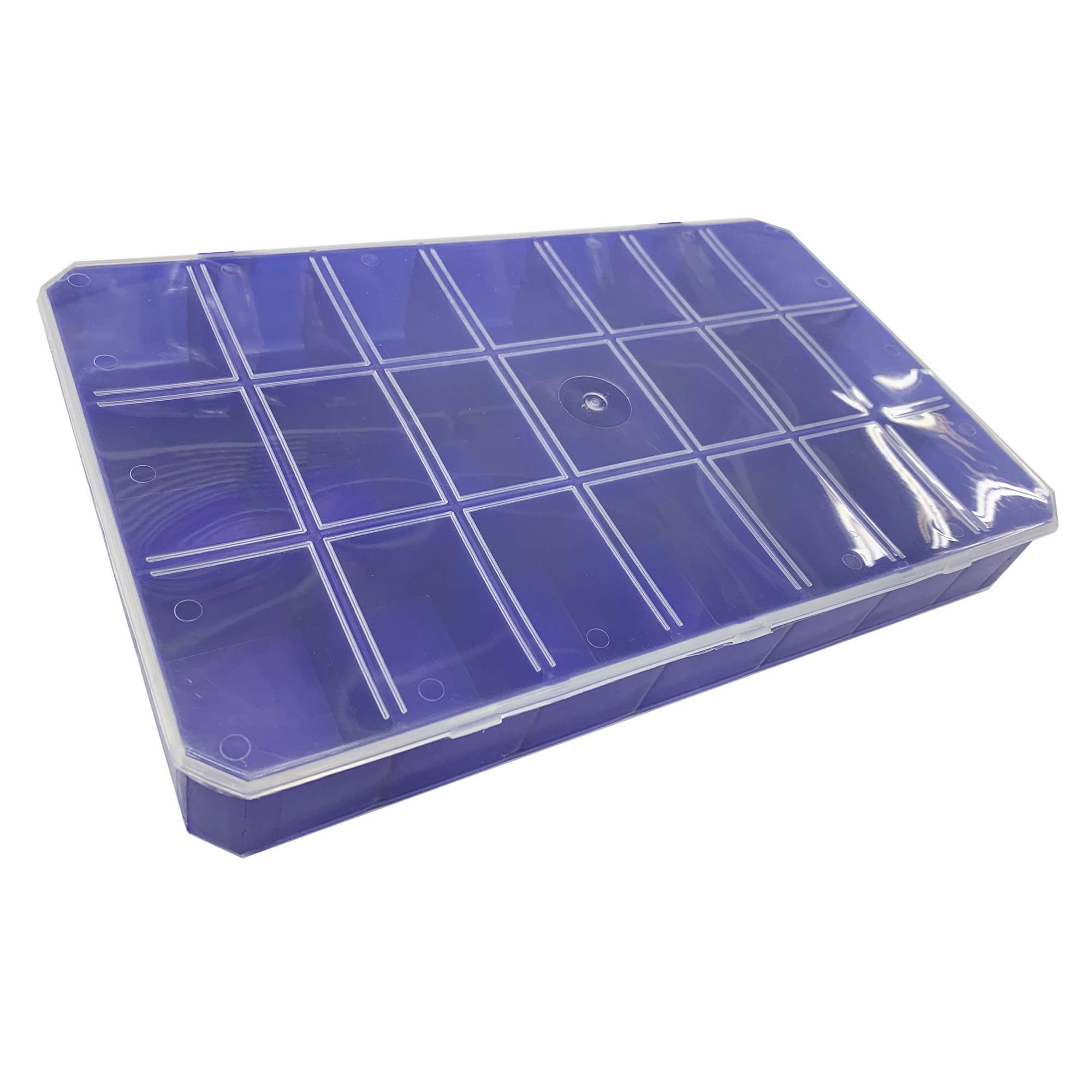 Caixa Organizadora - Transparente e Azul  - Stéphanie Bijoux® - Peças para Bijuterias e Artesanato
