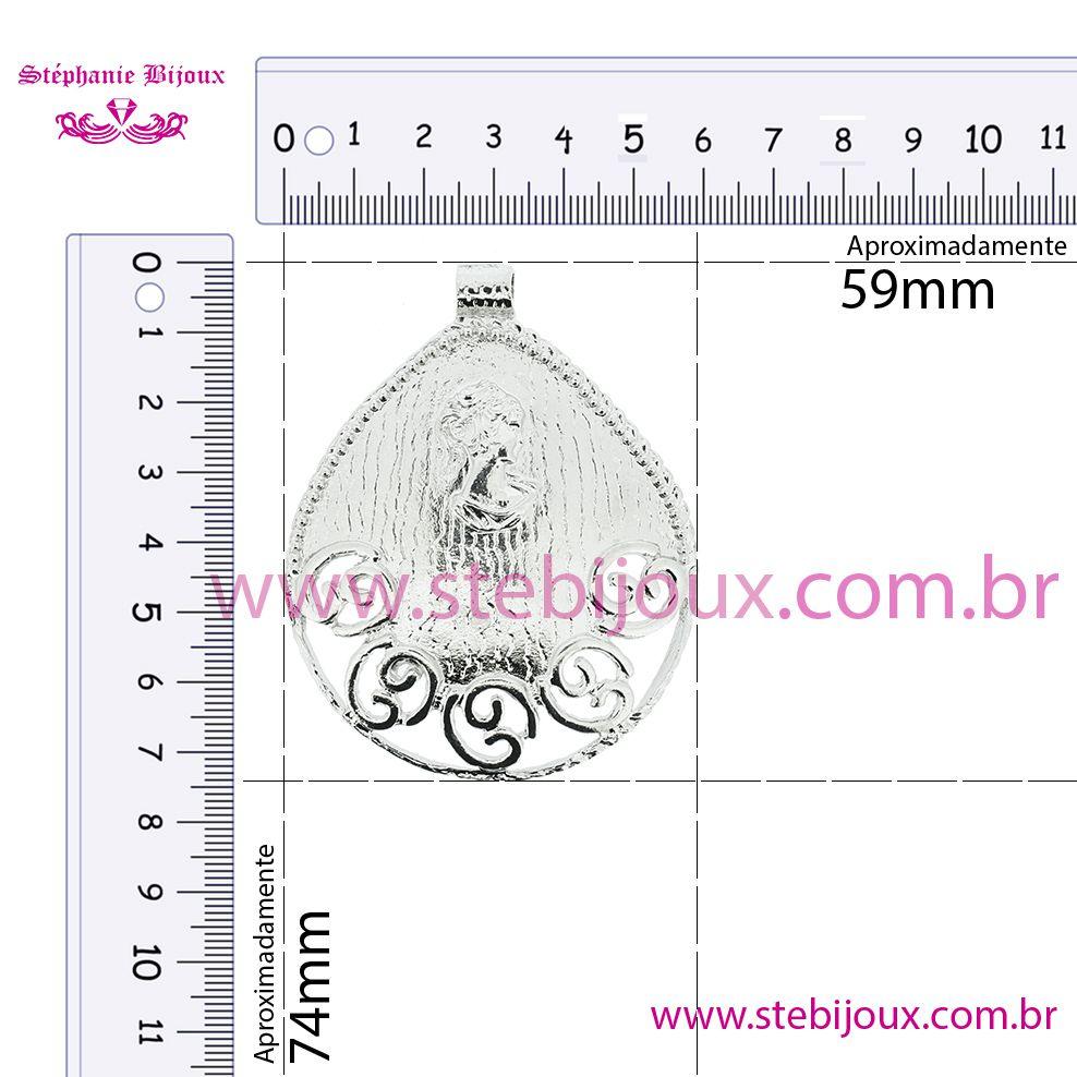 Camafeu Gota - Níquel - 74mm  - Stéphanie Bijoux® - Peças para Bijuterias e Artesanato