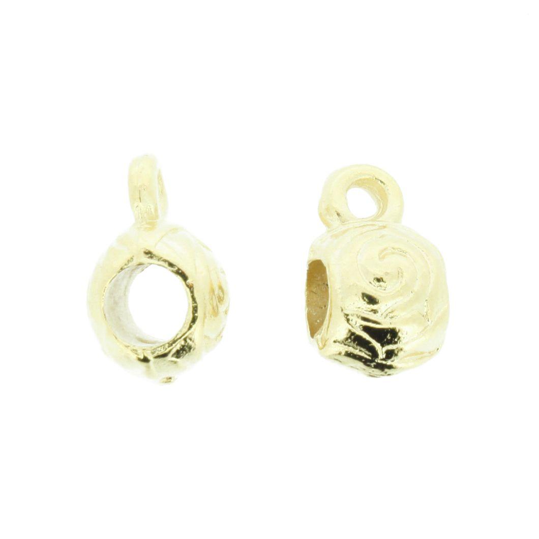 Caneca Flor - Dourada - 12mm  - Stéphanie Bijoux® - Peças para Bijuterias e Artesanato