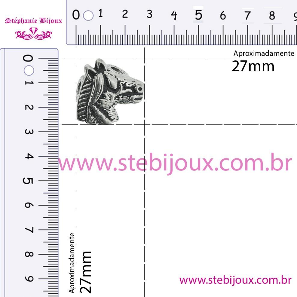Cavalo - Níquel Velho - 27mm  - Stéphanie Bijoux® - Peças para Bijuterias e Artesanato
