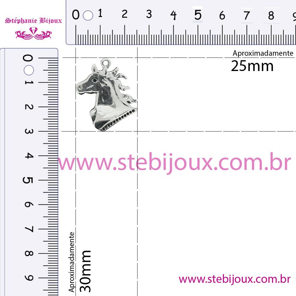 Cavalo - Ouro Velho - 30mm  - Stéphanie Bijoux® - Peças para Bijuterias e Artesanato