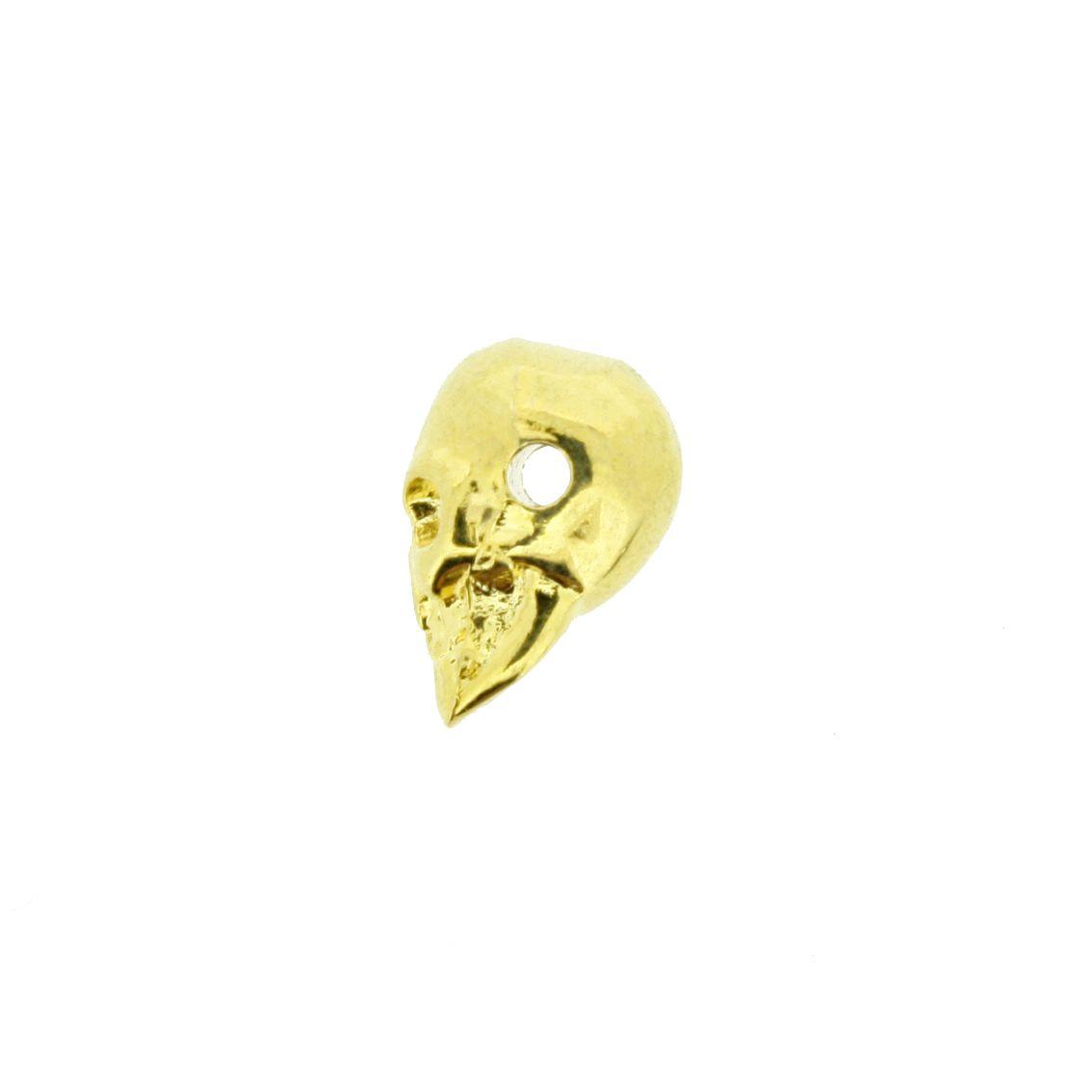 Caveira - Dourada - 13mm - 01 Peça  - Stéphanie Bijoux® - Peças para Bijuterias e Artesanato