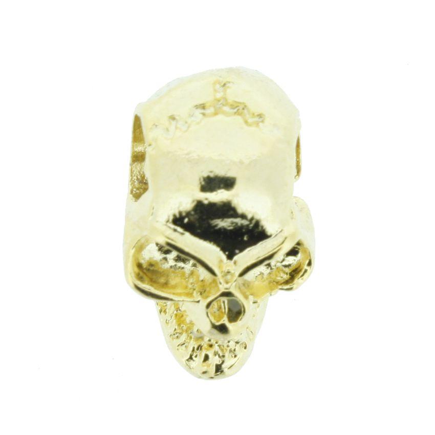 Caveira - Dourada - 17mm  - Stéphanie Bijoux® - Peças para Bijuterias e Artesanato