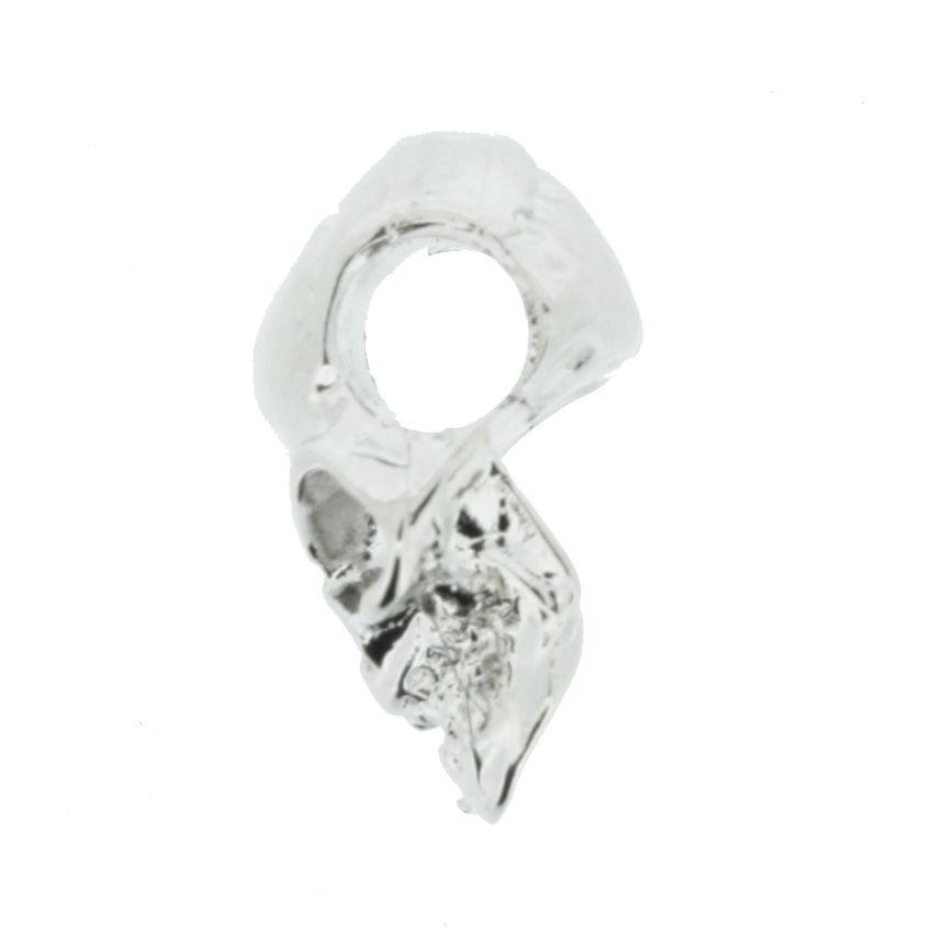 Caveira - Níquel - 17mm  - Stéphanie Bijoux® - Peças para Bijuterias e Artesanato