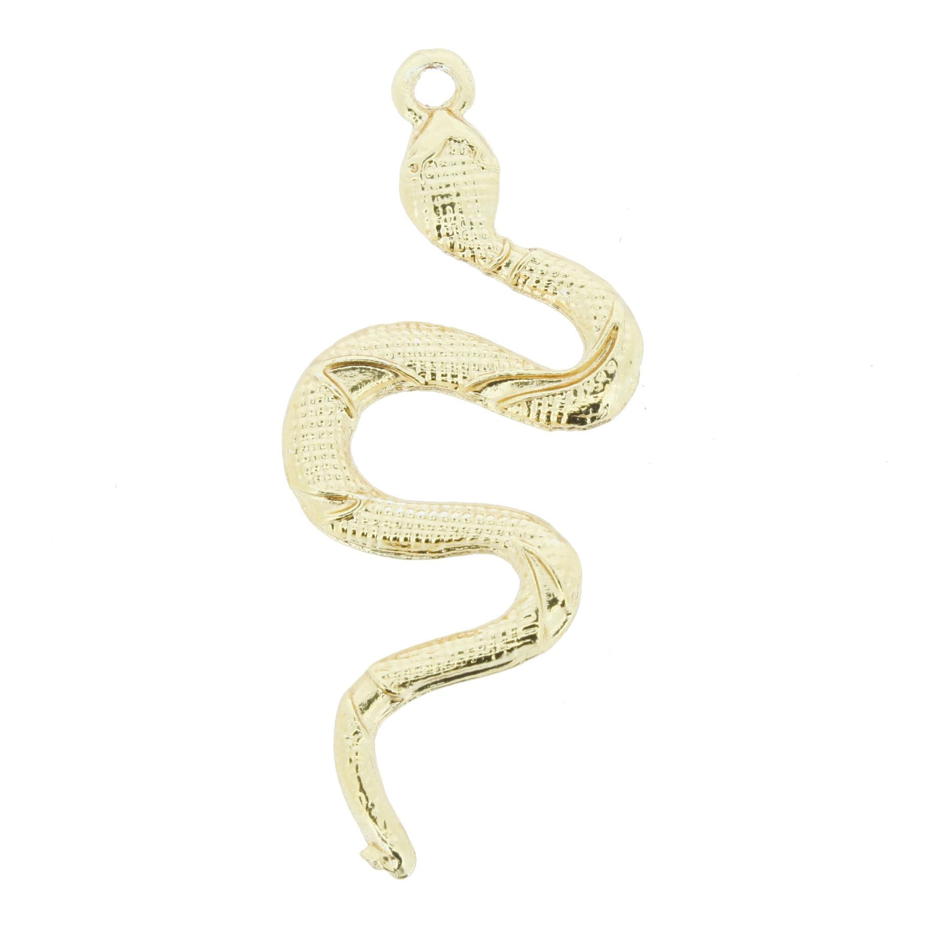 Cobra - Dourada - 50mm  - Stéphanie Bijoux® - Peças para Bijuterias e Artesanato