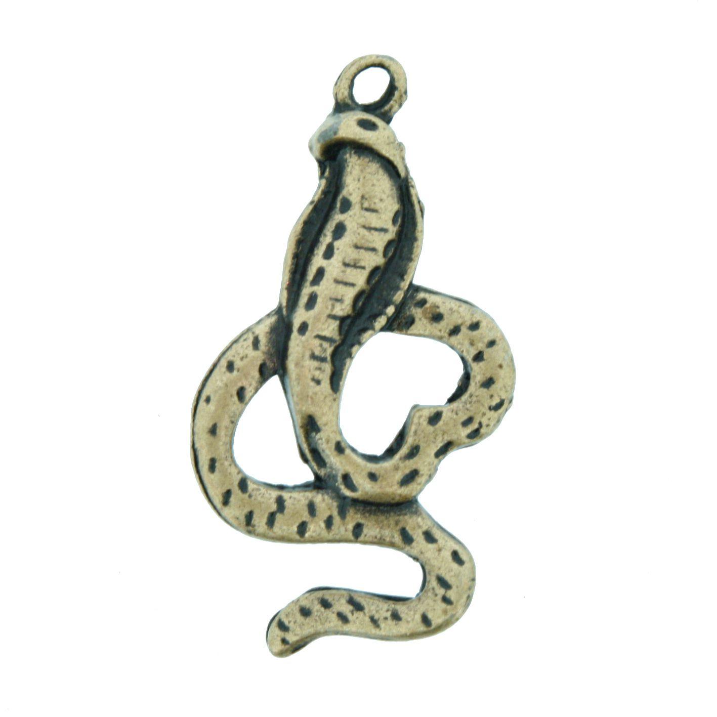 Cobra Naja - Ouro Velho - 34mm  - Stéphanie Bijoux® - Peças para Bijuterias e Artesanato