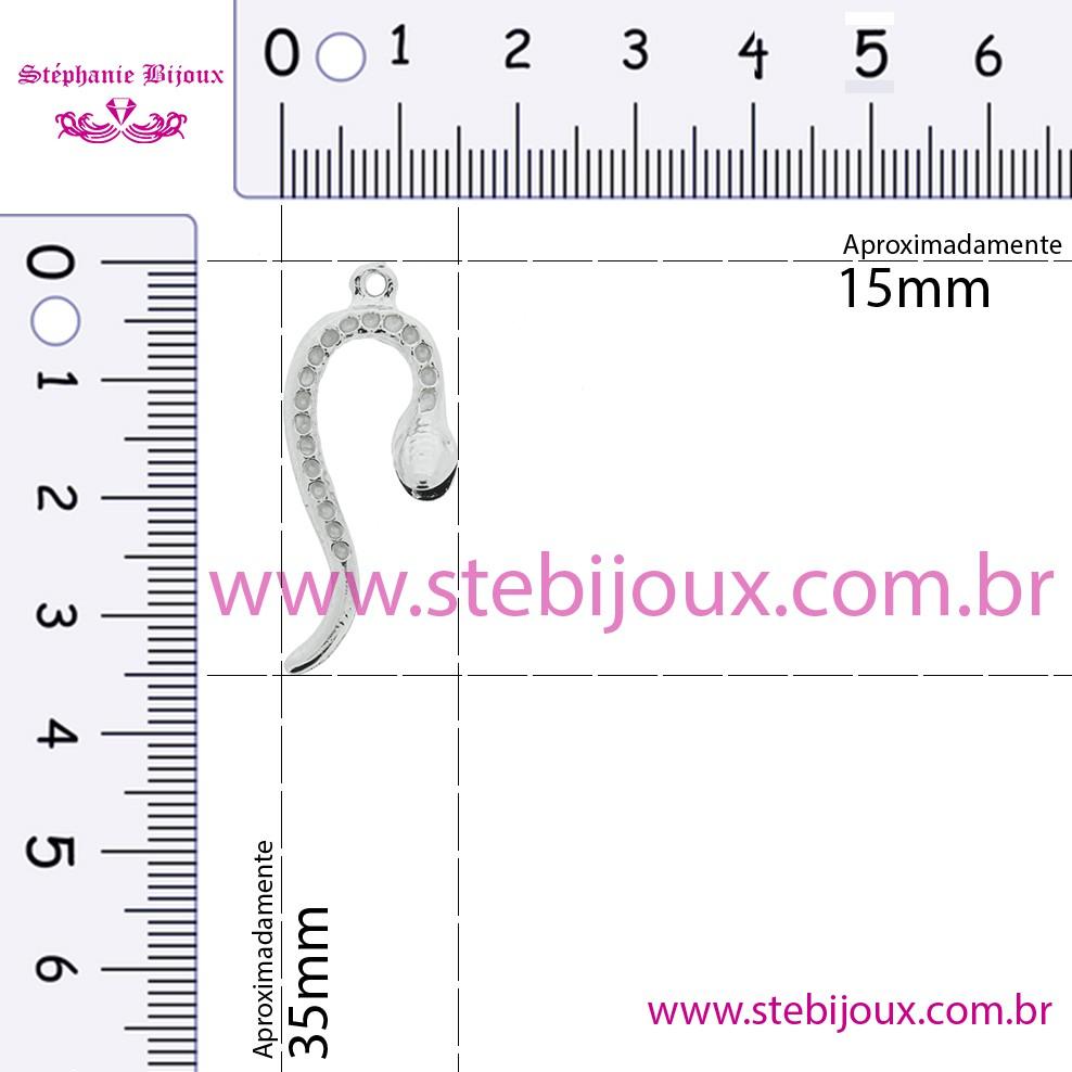 Cobra - Níquel - 35mm  - Stéphanie Bijoux® - Peças para Bijuterias e Artesanato