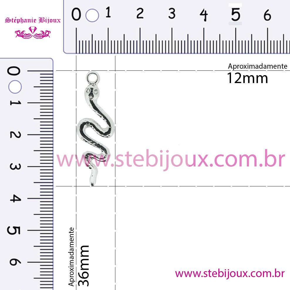 Cobra Rastejante - Níquel - 36mm  - Stéphanie Bijoux® - Peças para Bijuterias e Artesanato