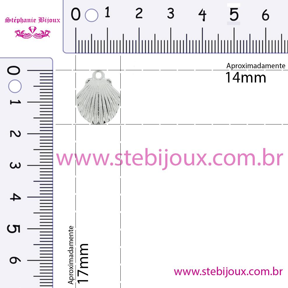 Concha - Dourada - 17mm  - Stéphanie Bijoux® - Peças para Bijuterias e Artesanato
