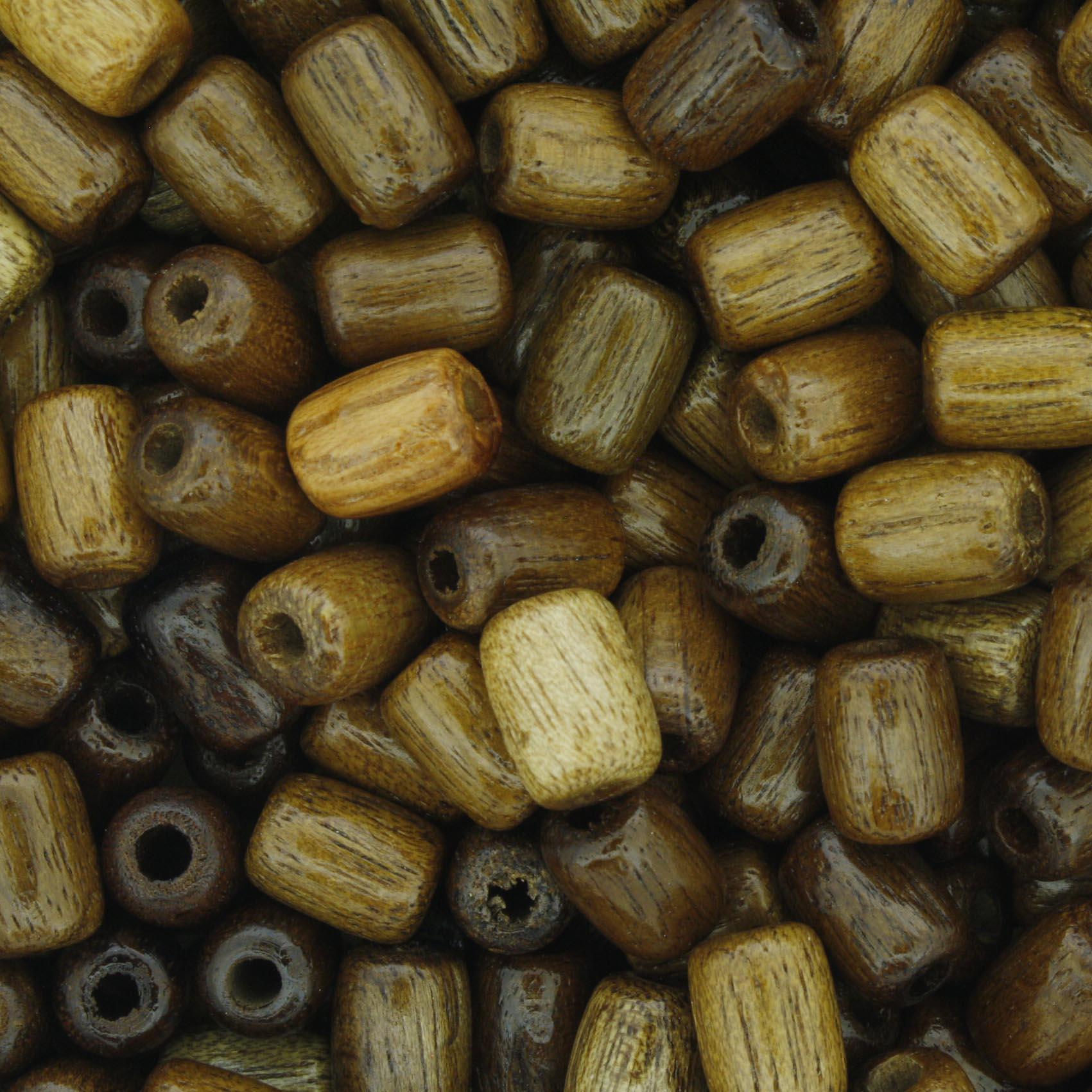 Contas de Madeira - 6x8mm - Imbuia  - Stéphanie Bijoux® - Peças para Bijuterias e Artesanato