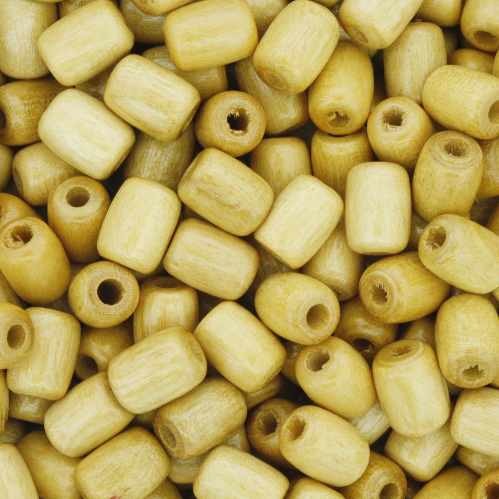 Contas de Madeira - 6x8mm - Marfim  - Stéphanie Bijoux® - Peças para Bijuterias e Artesanato