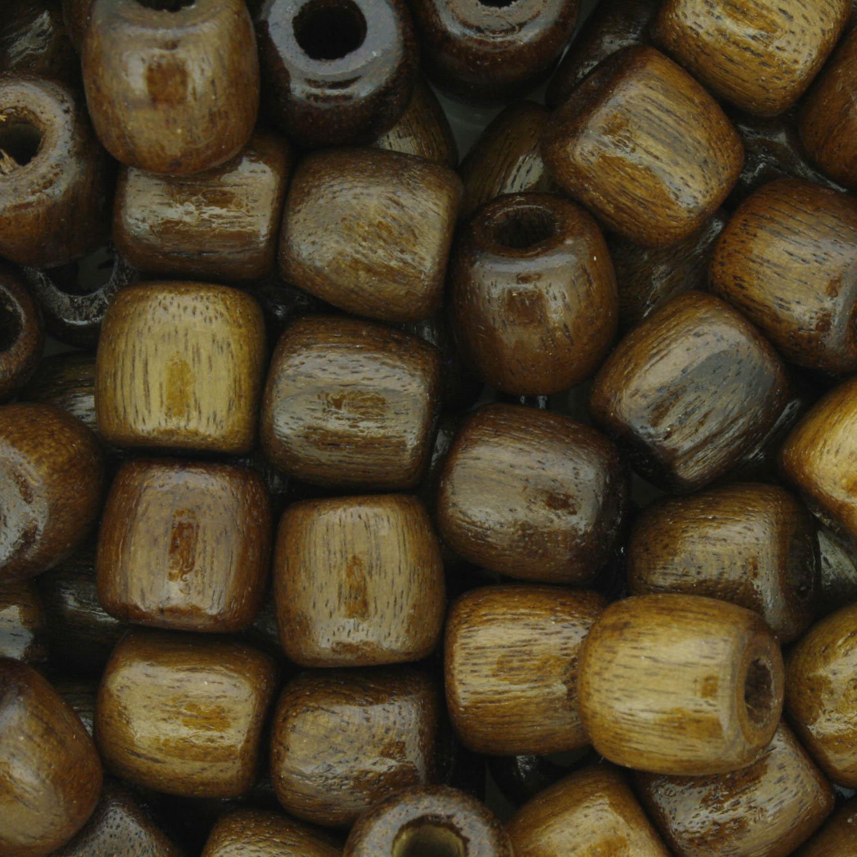 Contas de Madeira - 9,5X9,5mm - Imbuia  - Stéphanie Bijoux® - Peças para Bijuterias e Artesanato