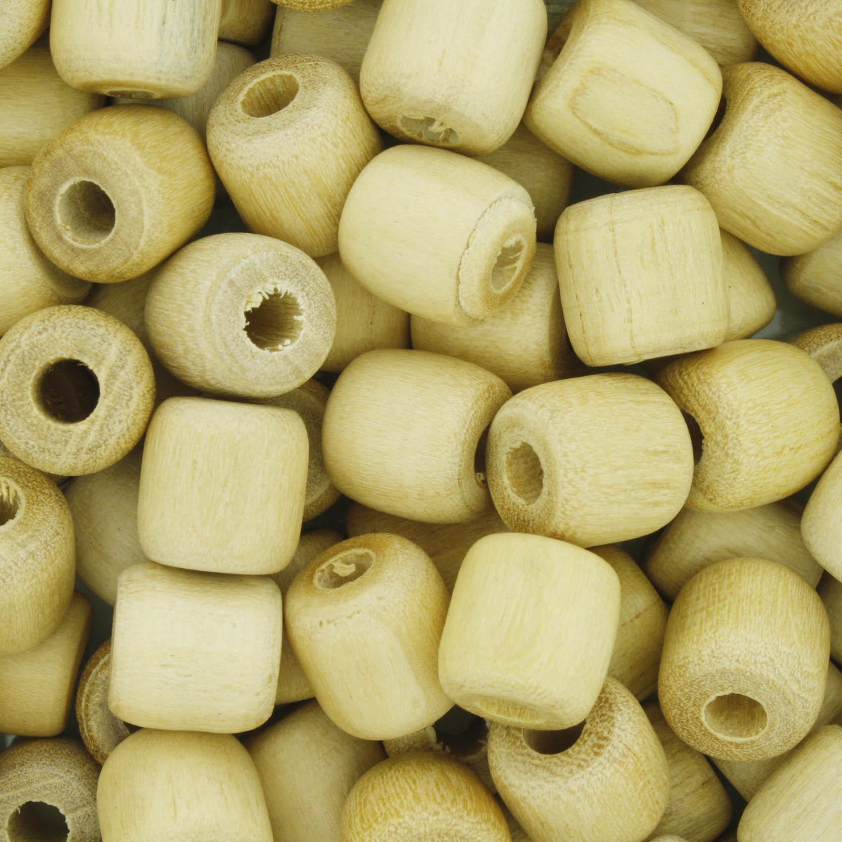 Contas de Madeira - 9,5X9,5mm - Marfim  - Stéphanie Bijoux® - Peças para Bijuterias e Artesanato