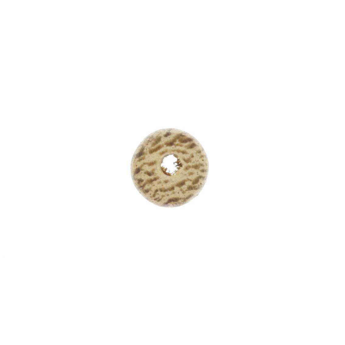 Contas de Madeira - Disco 7,5x5mm - Rajada  - Stéphanie Bijoux® - Peças para Bijuterias e Artesanato