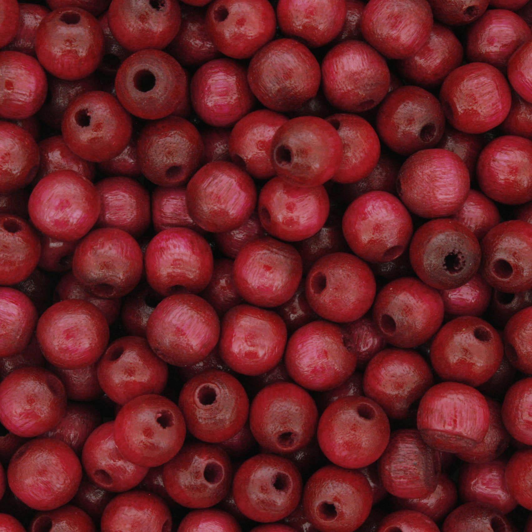 Contas de Madeira nº6 - Vermelha  - Stéphanie Bijoux® - Peças para Bijuterias e Artesanato