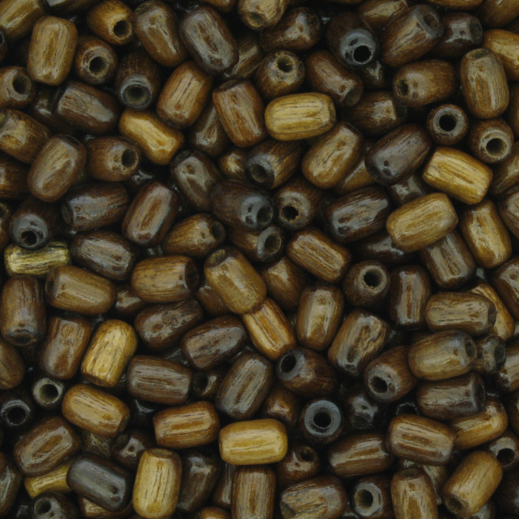 Contas de Madeira - 4x6mm - Imbuia  - Stéphanie Bijoux® - Peças para Bijuterias e Artesanato