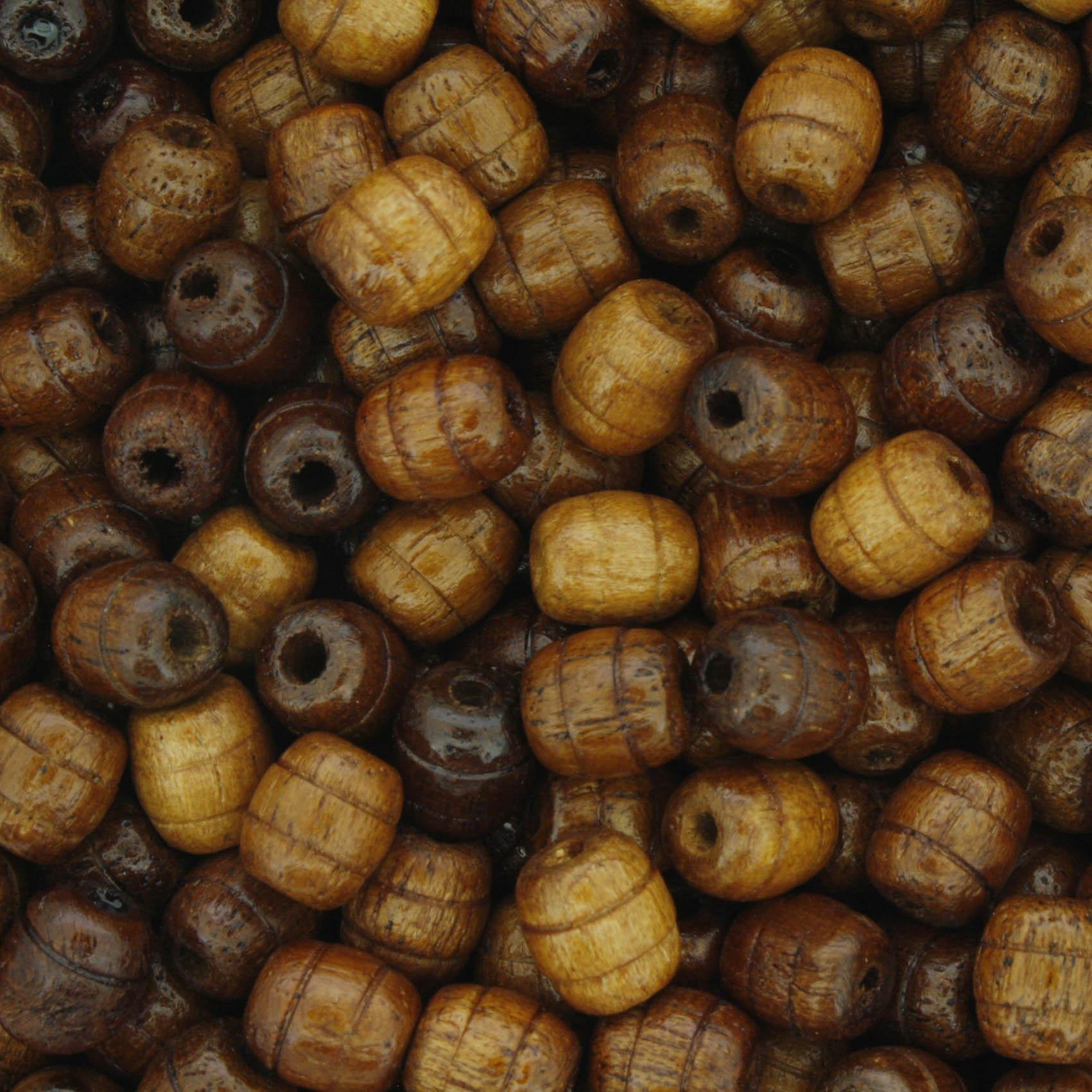 Contas de Madeira - 6x7mm Frisada - Peroba  - Stéphanie Bijoux® - Peças para Bijuterias e Artesanato