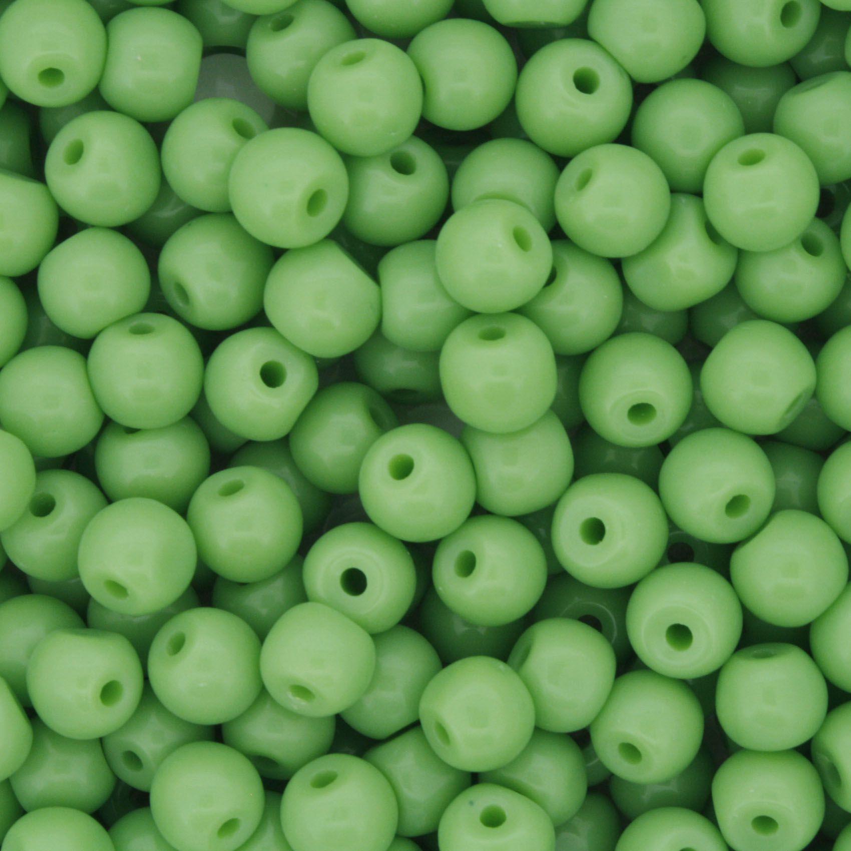 Contas de Porcelana® - Verde Clara - 6mm  - Stéphanie Bijoux® - Peças para Bijuterias e Artesanato