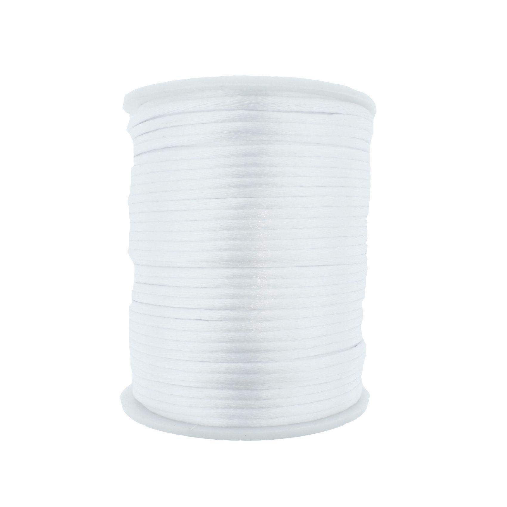 Cordão de Seda - Branco - 2mm  - Stéphanie Bijoux® - Peças para Bijuterias e Artesanato