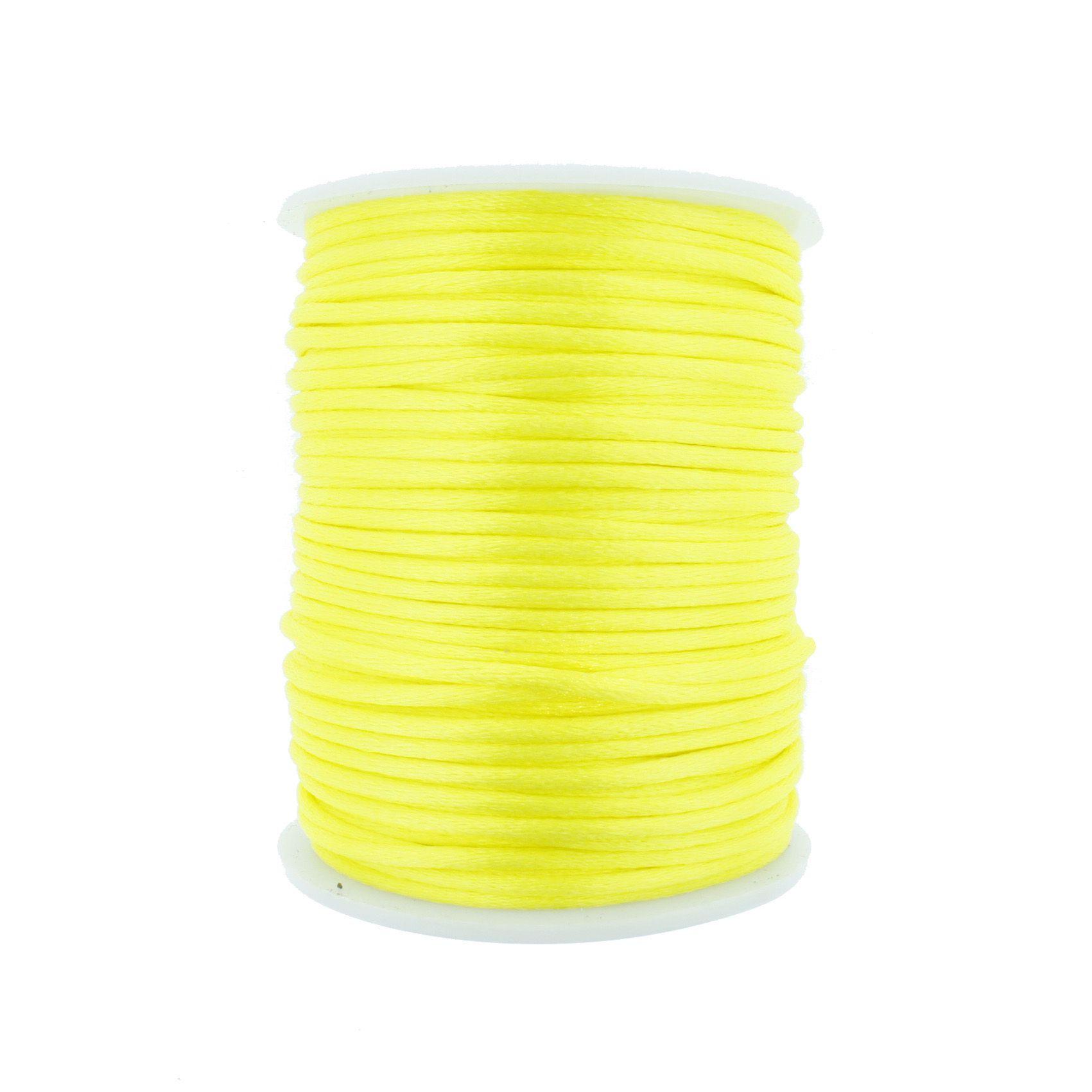 Cordão de Seda - Amarelo - 2mm  - Stéphanie Bijoux® - Peças para Bijuterias e Artesanato