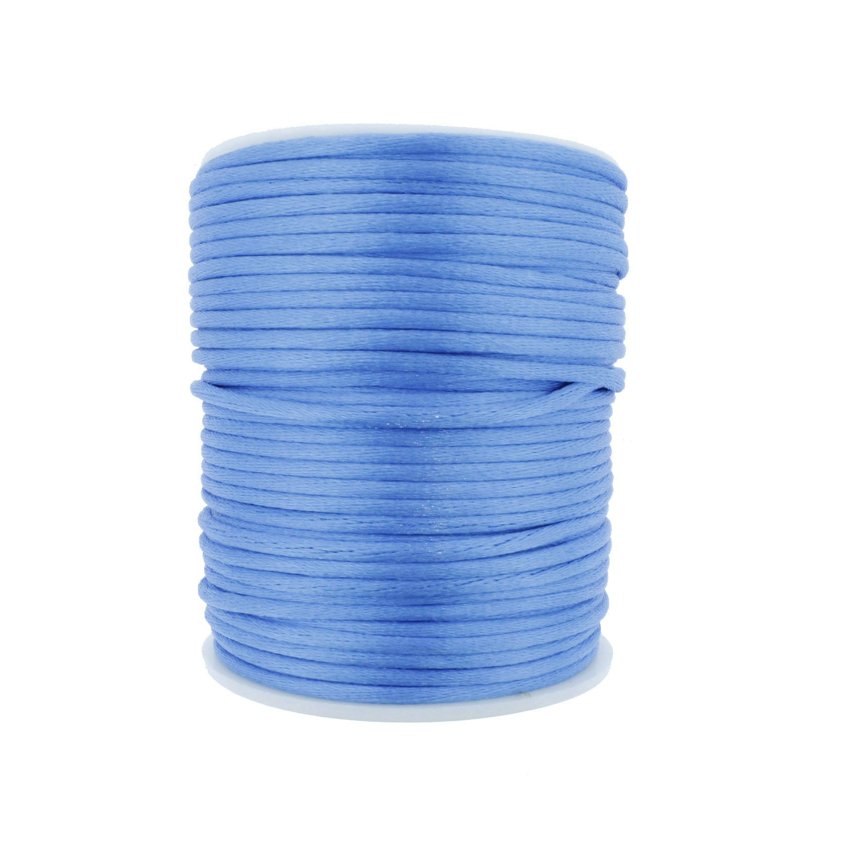 Cordão de Seda - Azul - 2mm  - Stéphanie Bijoux® - Peças para Bijuterias e Artesanato