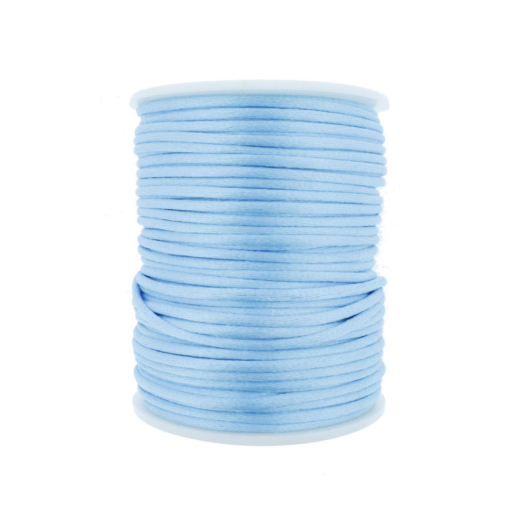 Cordão de Seda - Azul Claro - 2mm  - Stéphanie Bijoux® - Peças para Bijuterias e Artesanato