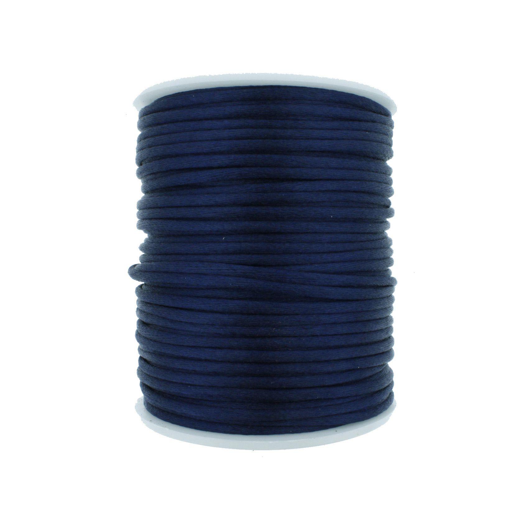 Cordão de Seda - Azul Marinho - 2mm  - Stéphanie Bijoux® - Peças para Bijuterias e Artesanato