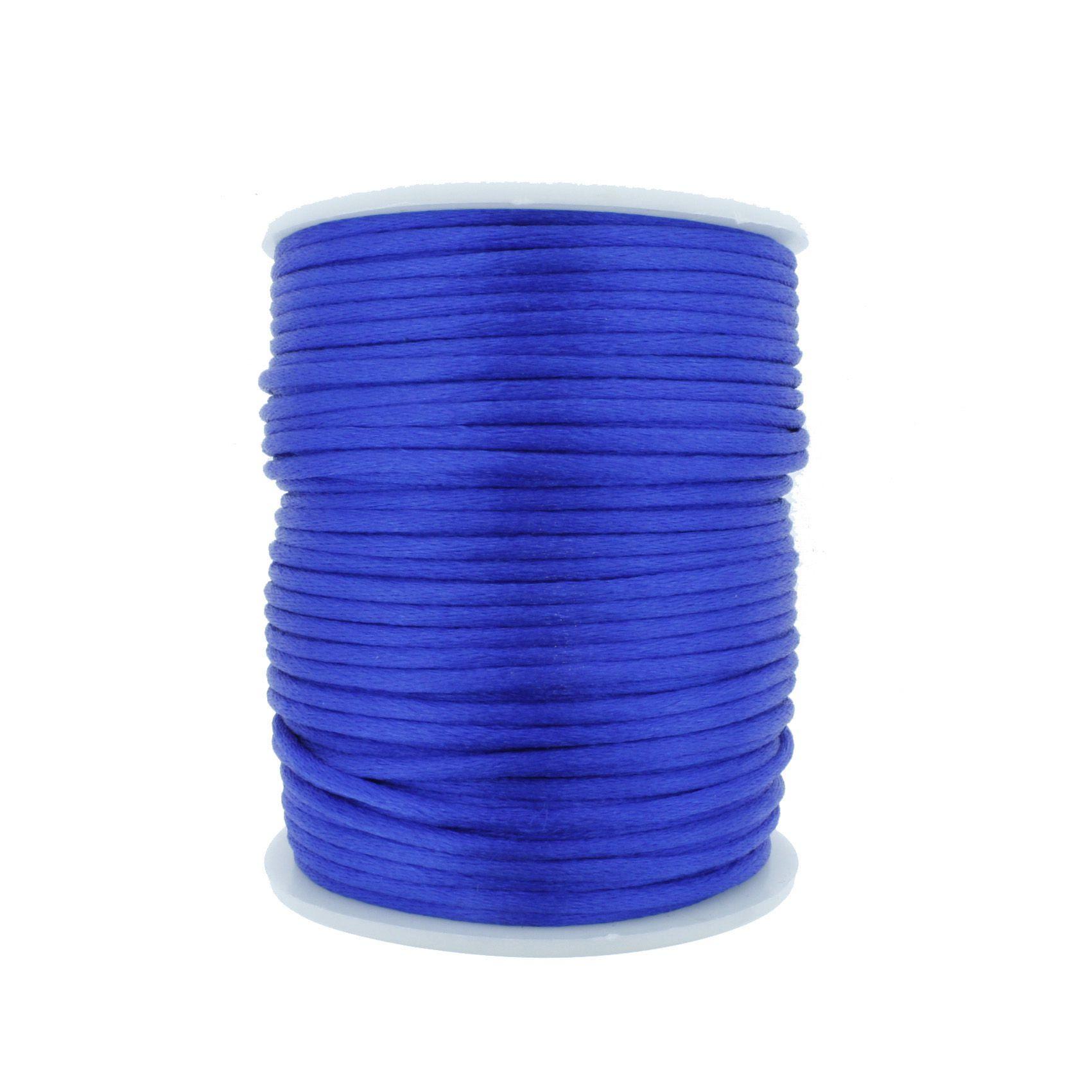 Cordão de Seda - Azul Royal - 2mm  - Stéphanie Bijoux® - Peças para Bijuterias e Artesanato