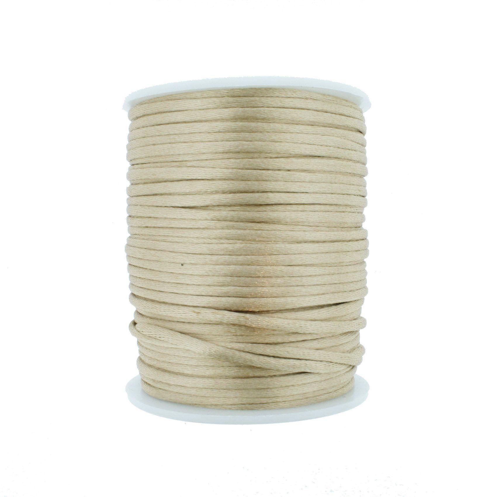 Cordão de Seda - Bege - 2mm  - Stéphanie Bijoux® - Peças para Bijuterias e Artesanato