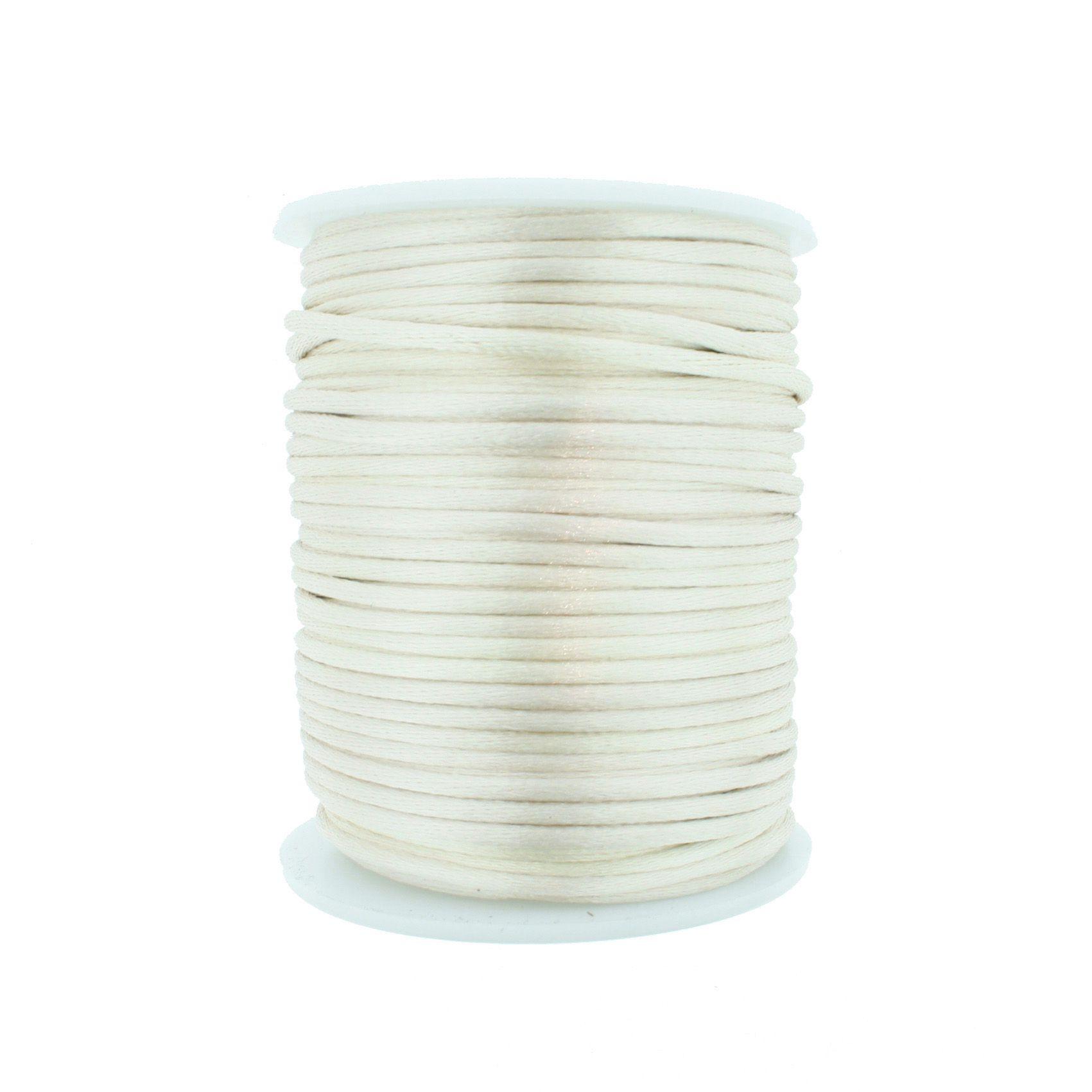 Cordão de Seda - Bege Claro - 2mm  - Stéphanie Bijoux® - Peças para Bijuterias e Artesanato