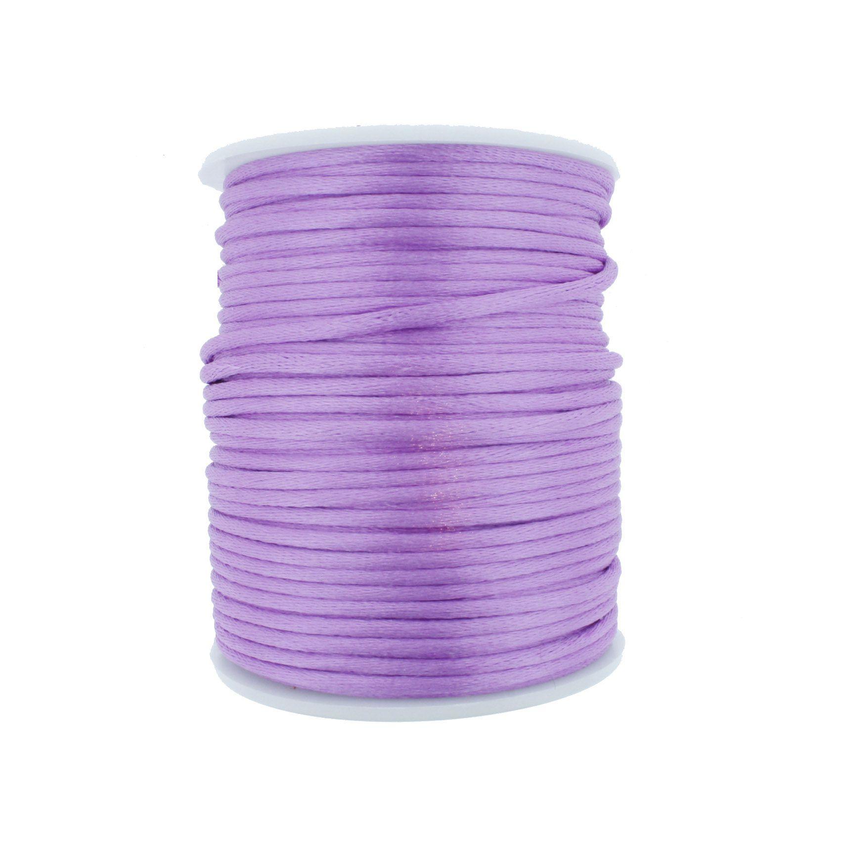 Cordão de Seda - Lilás - 2mm  - Stéphanie Bijoux® - Peças para Bijuterias e Artesanato