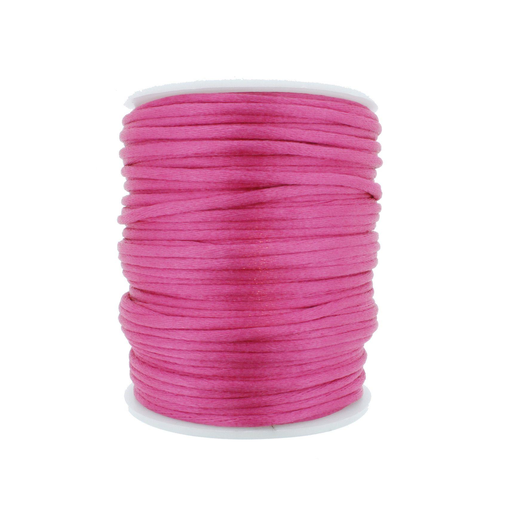 Cordão de Seda - Pink - 2mm  - Stéphanie Bijoux® - Peças para Bijuterias e Artesanato