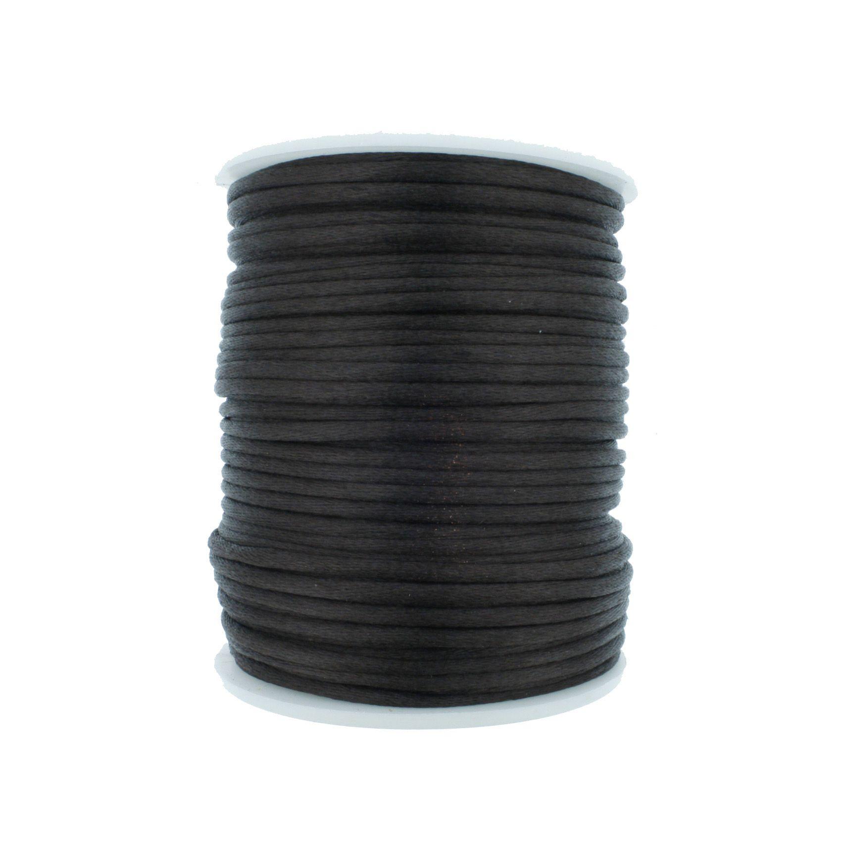Cordão de Seda - Preto - 2mm  - Stéphanie Bijoux® - Peças para Bijuterias e Artesanato