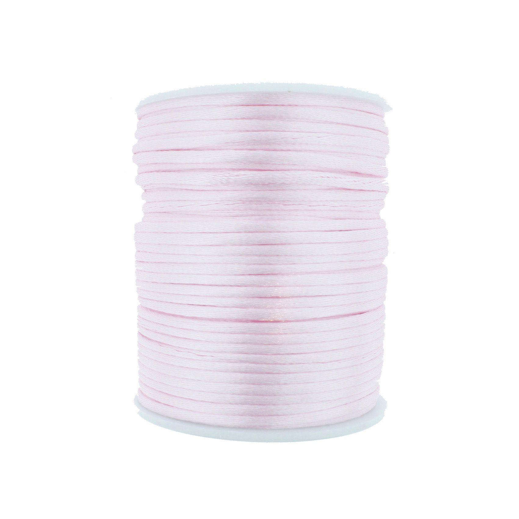 Cordão de Seda - Rosa - 2mm  - Stéphanie Bijoux® - Peças para Bijuterias e Artesanato