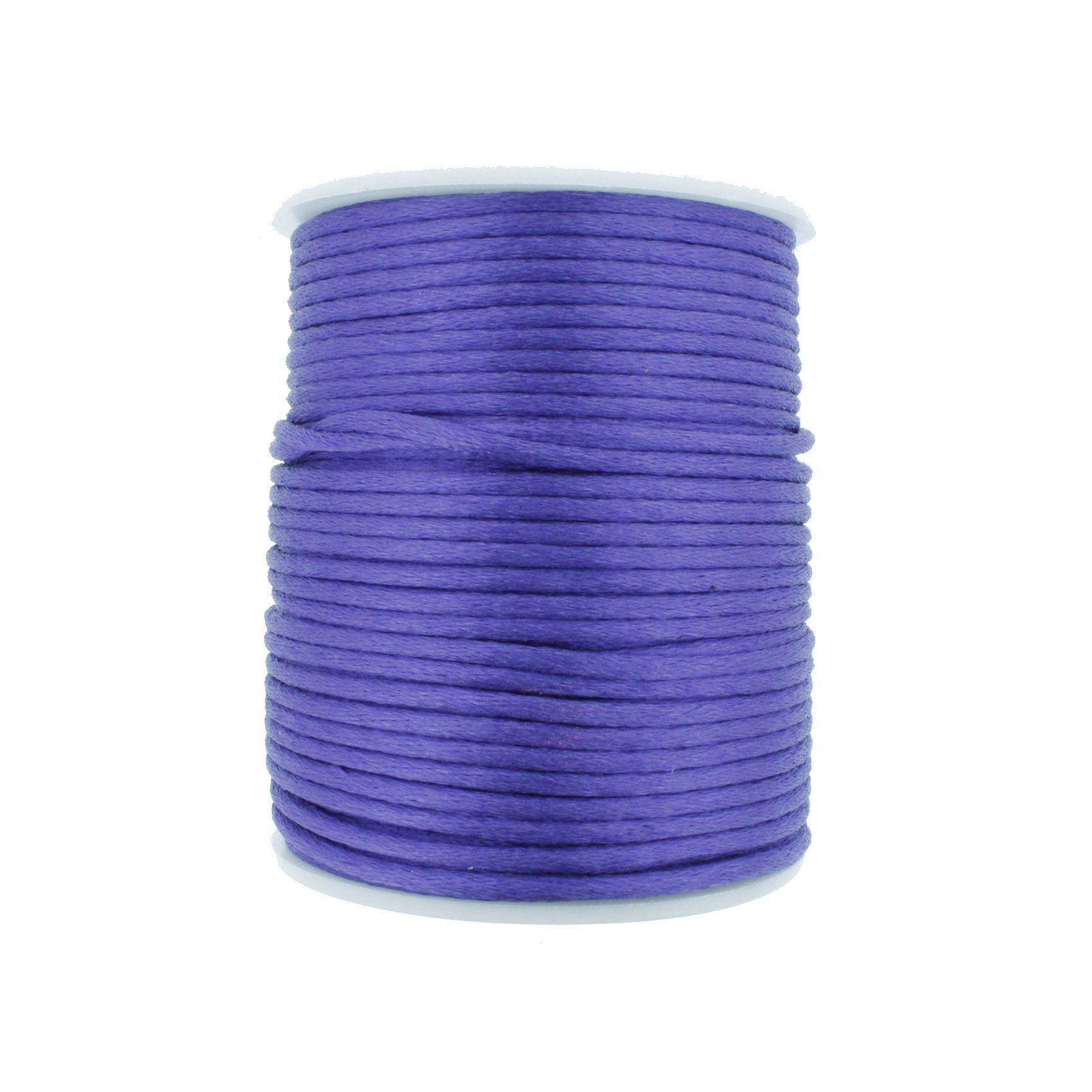 Cordão de Seda - Roxo - 2mm  - Stéphanie Bijoux® - Peças para Bijuterias e Artesanato