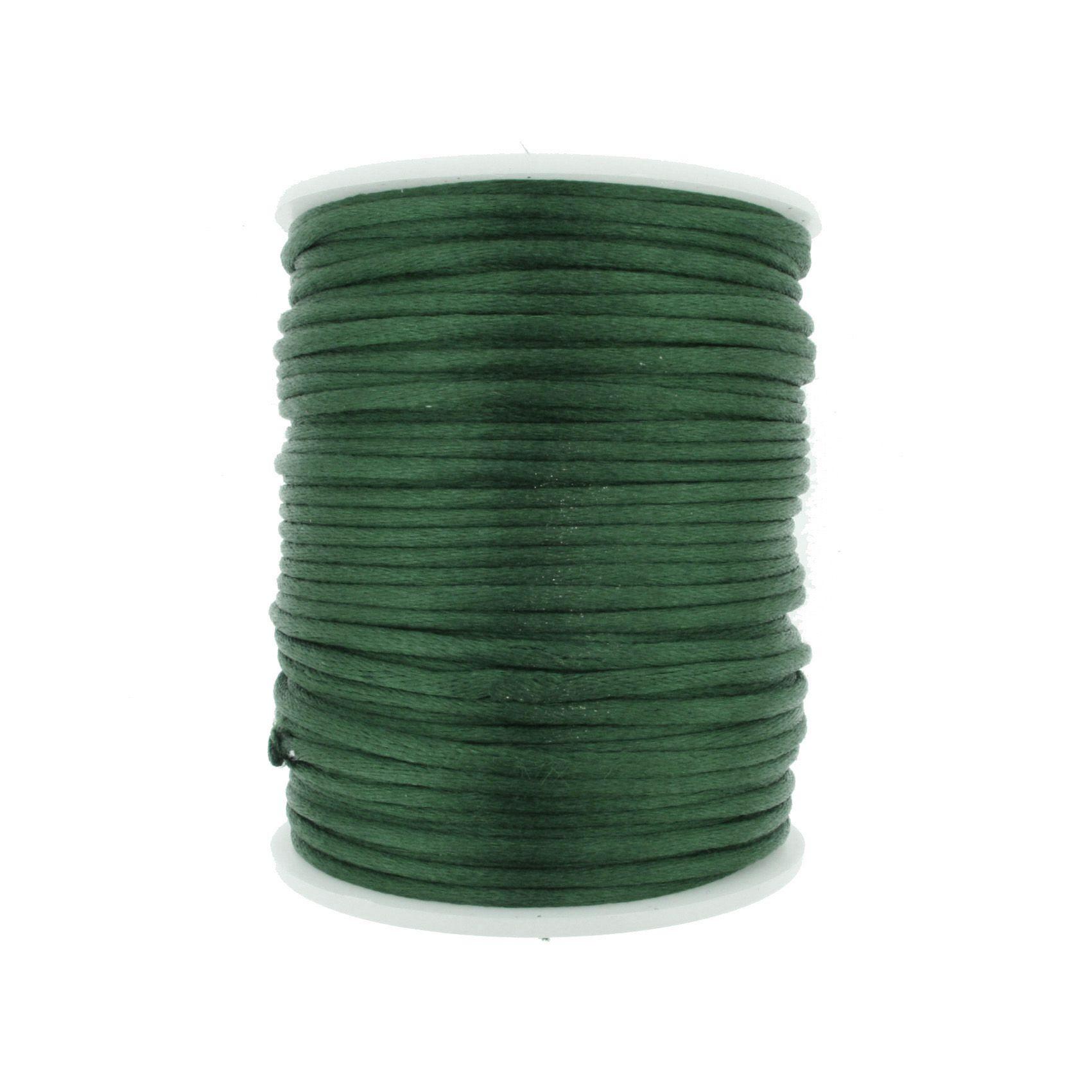 Cordão de Seda - Verde - 2mm  - Stéphanie Bijoux® - Peças para Bijuterias e Artesanato