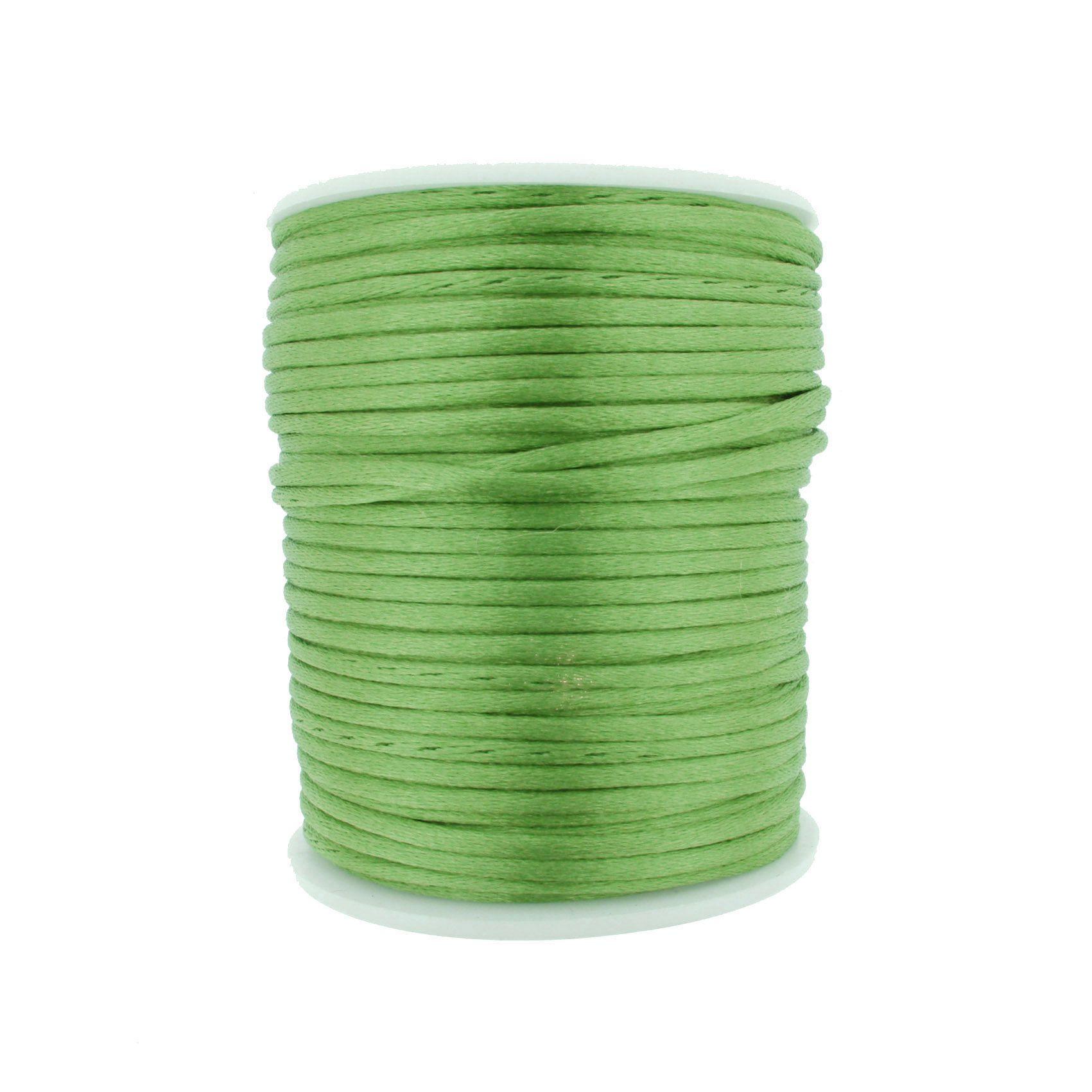 Cordão de Seda - Verde Claro - 2mm  - Stéphanie Bijoux® - Peças para Bijuterias e Artesanato