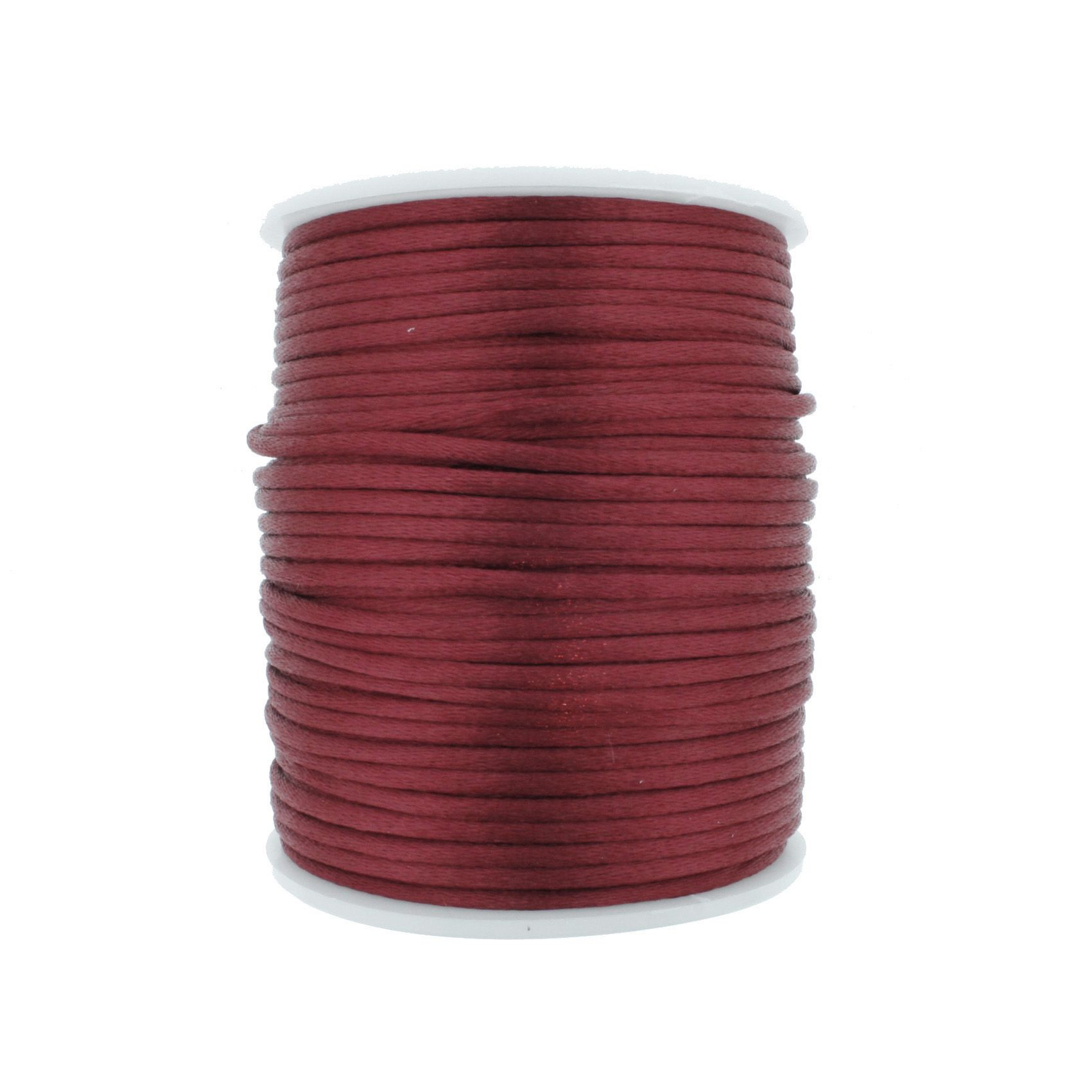 Cordão de Seda - Vermelho Marsala - 2mm  - Stéphanie Bijoux® - Peças para Bijuterias e Artesanato