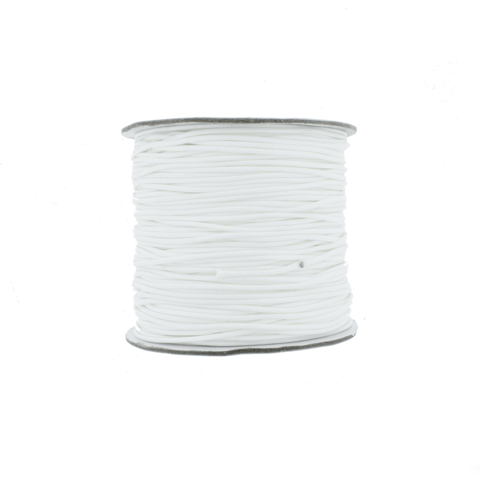 Cordão Encerado - Premium® - Branco - 1mm  - Stéphanie Bijoux® - Peças para Bijuterias e Artesanato