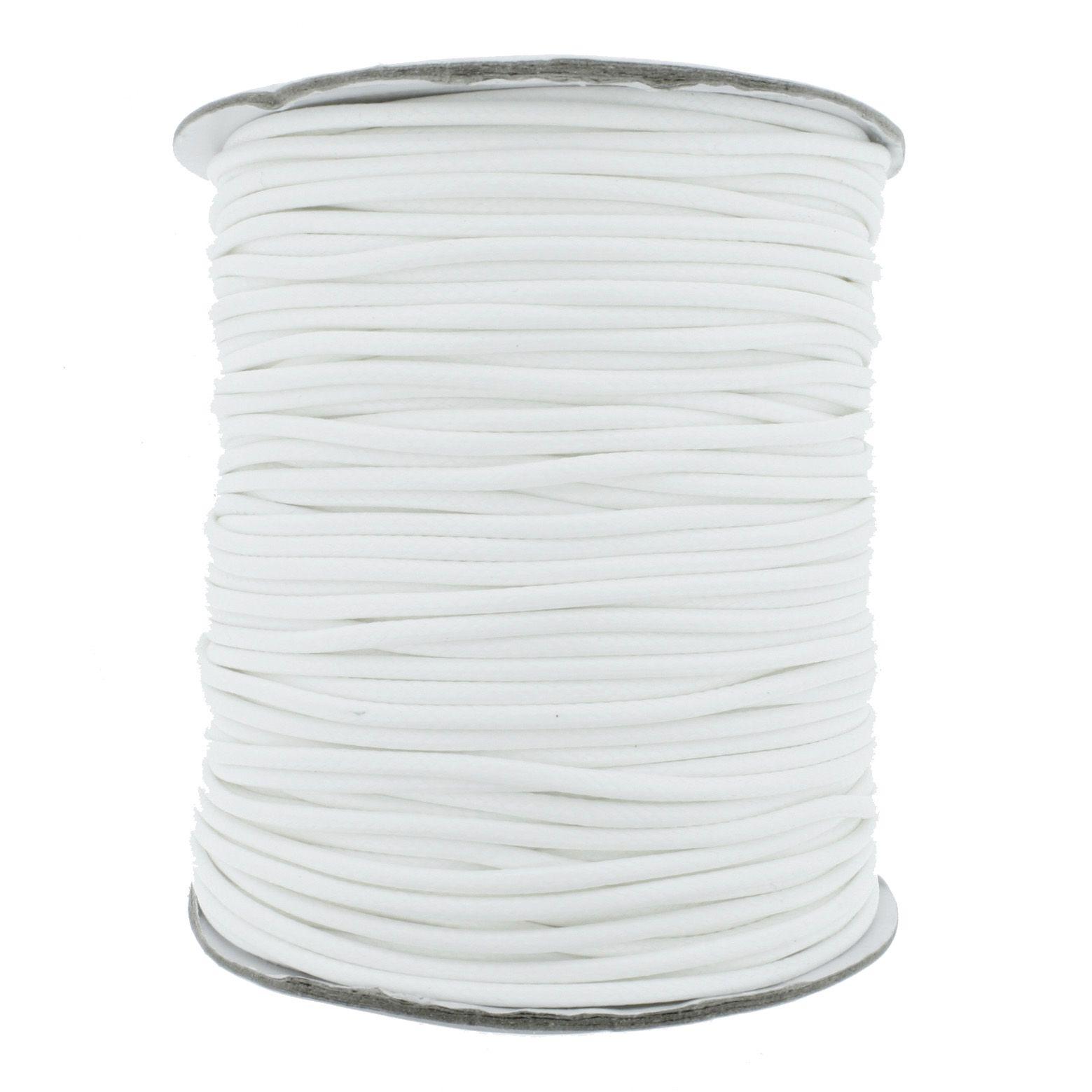 Cordão Encerado - Premium® - Branco - 2mm  - Stéphanie Bijoux® - Peças para Bijuterias e Artesanato