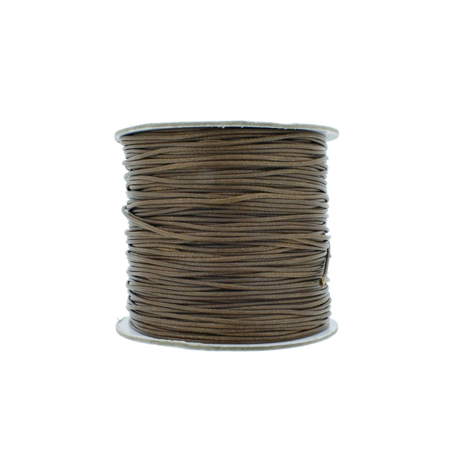 Cordão Encerado - Premium® - Marrom - 1mm  - Stéphanie Bijoux® - Peças para Bijuterias e Artesanato