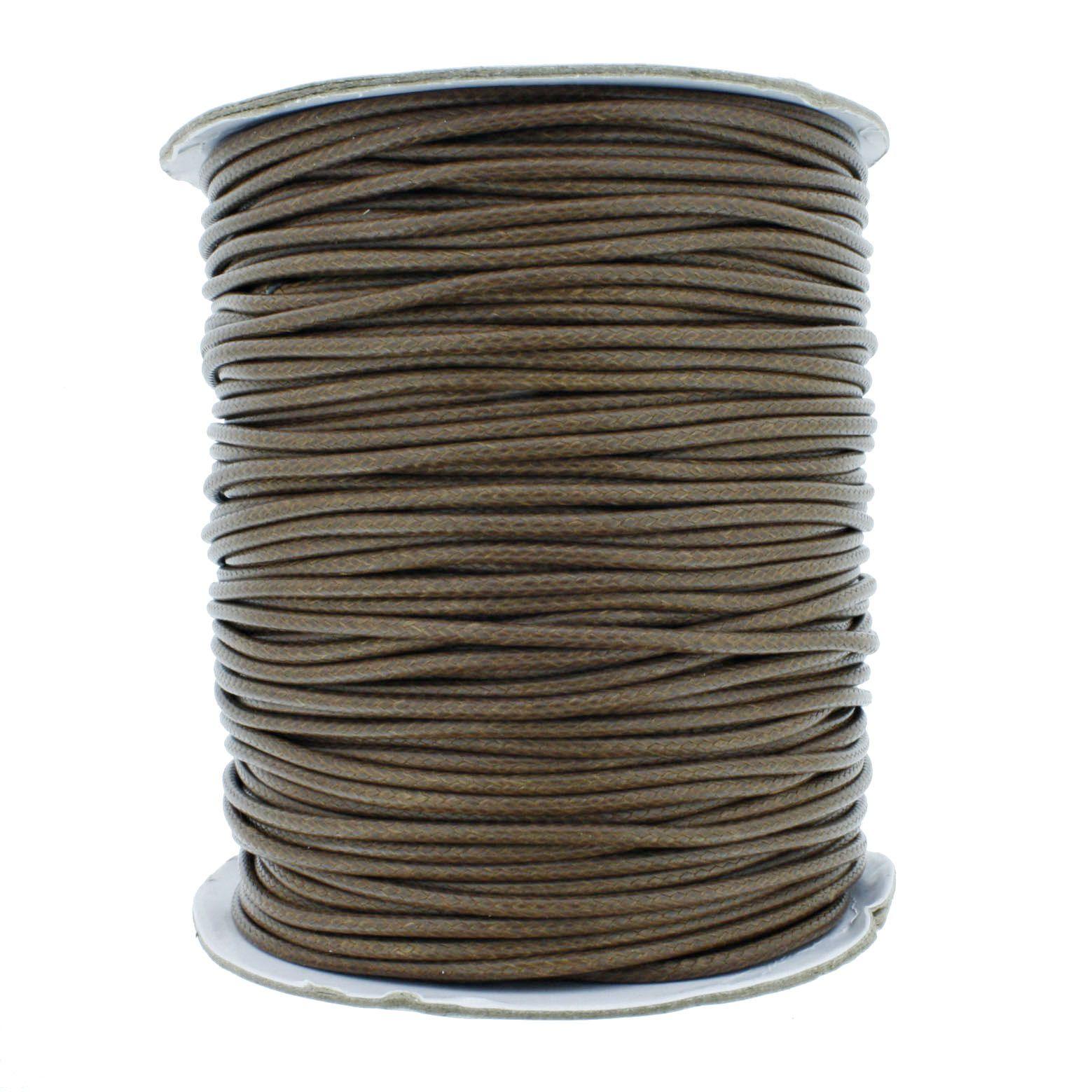Cordão Encerado - Premium® - Marrom - 2mm  - Stéphanie Bijoux® - Peças para Bijuterias e Artesanato