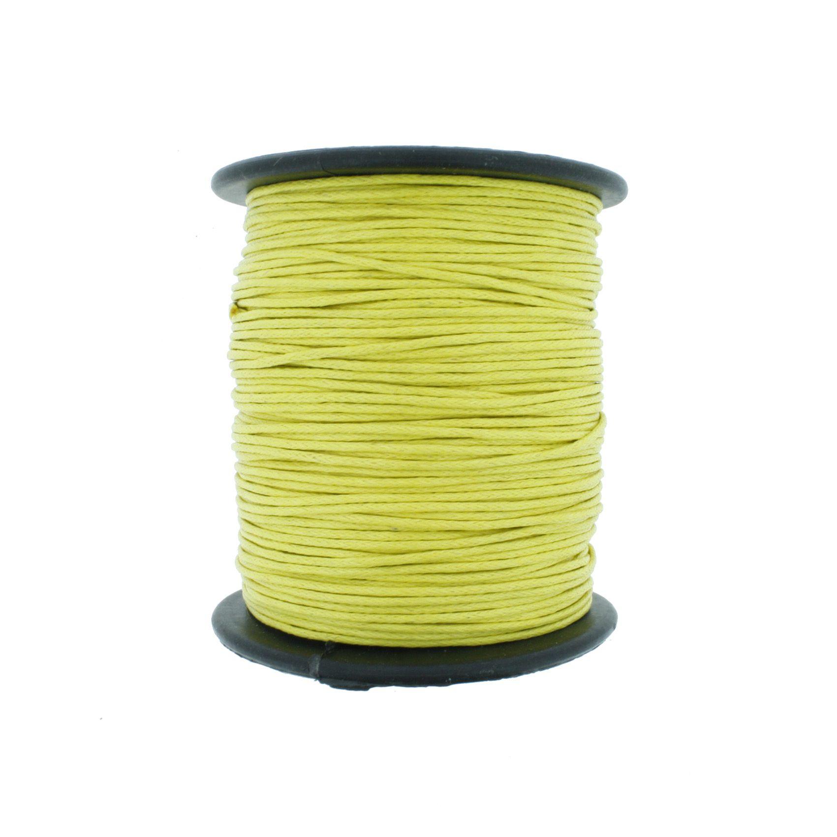 Cordão Encerado - Work® - Amarelo - 1mm  - Stéphanie Bijoux® - Peças para Bijuterias e Artesanato