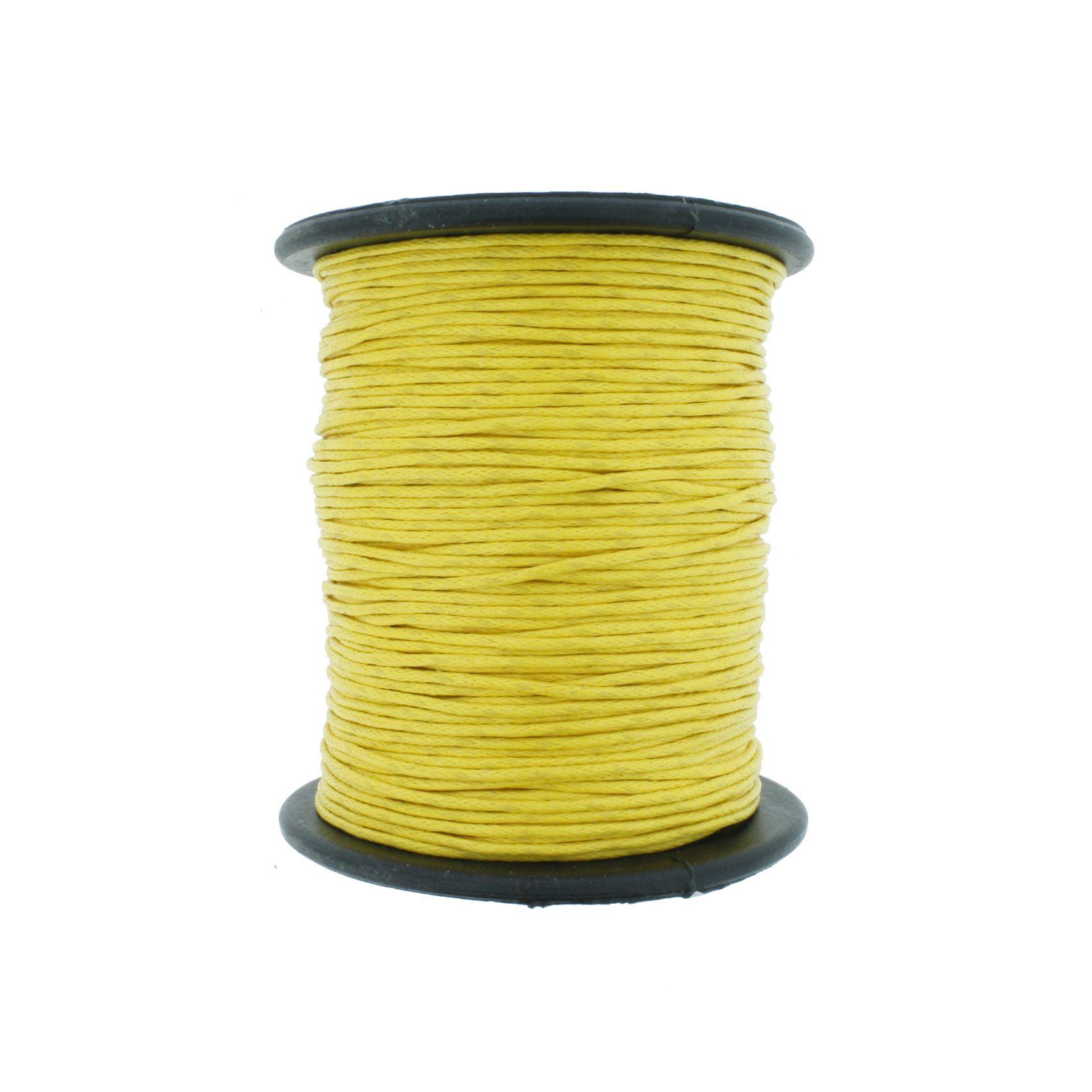 Cordão Encerado - Work® - Amarelo Gema - 1mm  - Stéphanie Bijoux® - Peças para Bijuterias e Artesanato
