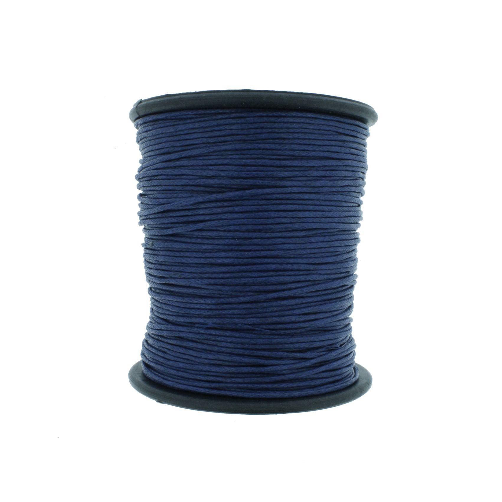 Cordão Encerado - Work® - Azul - 1mm  - Stéphanie Bijoux® - Peças para Bijuterias e Artesanato