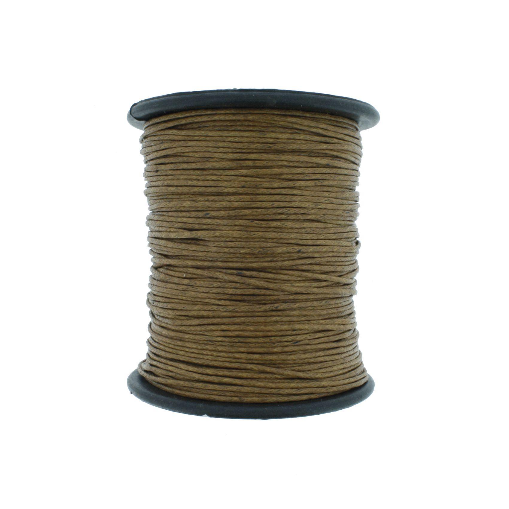 Cordão Encerado - Work® - Bege Escuro - 1mm  - Stéphanie Bijoux® - Peças para Bijuterias e Artesanato