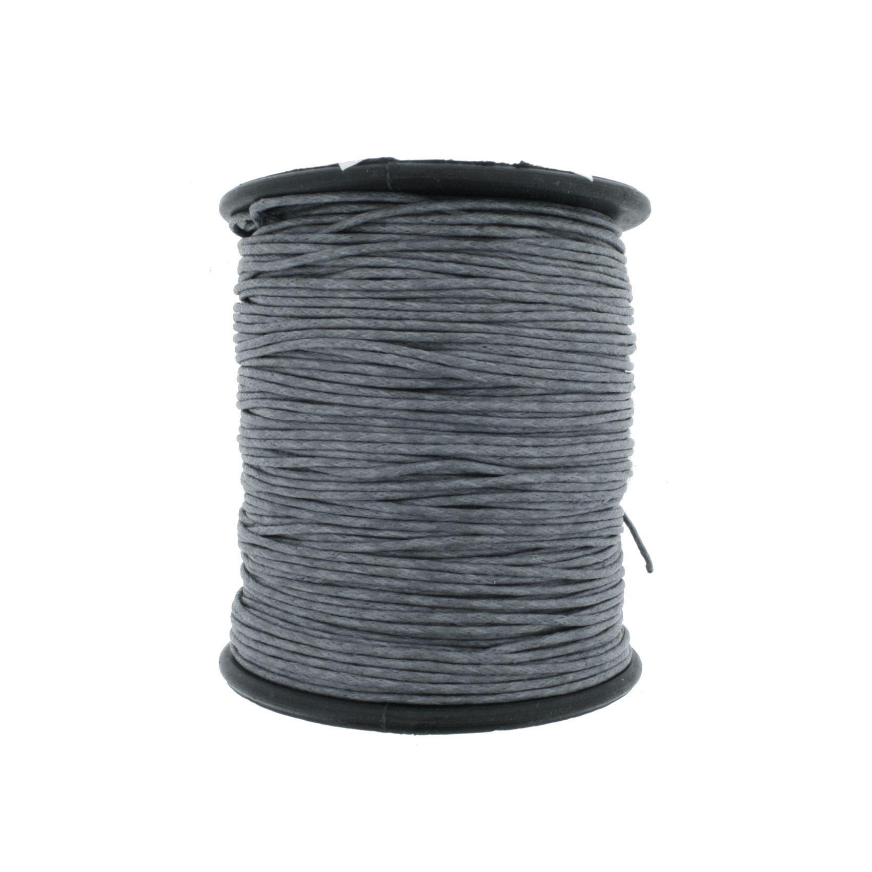Cordão Encerado - Work® - Cinza - 1mm  - Stéphanie Bijoux® - Peças para Bijuterias e Artesanato