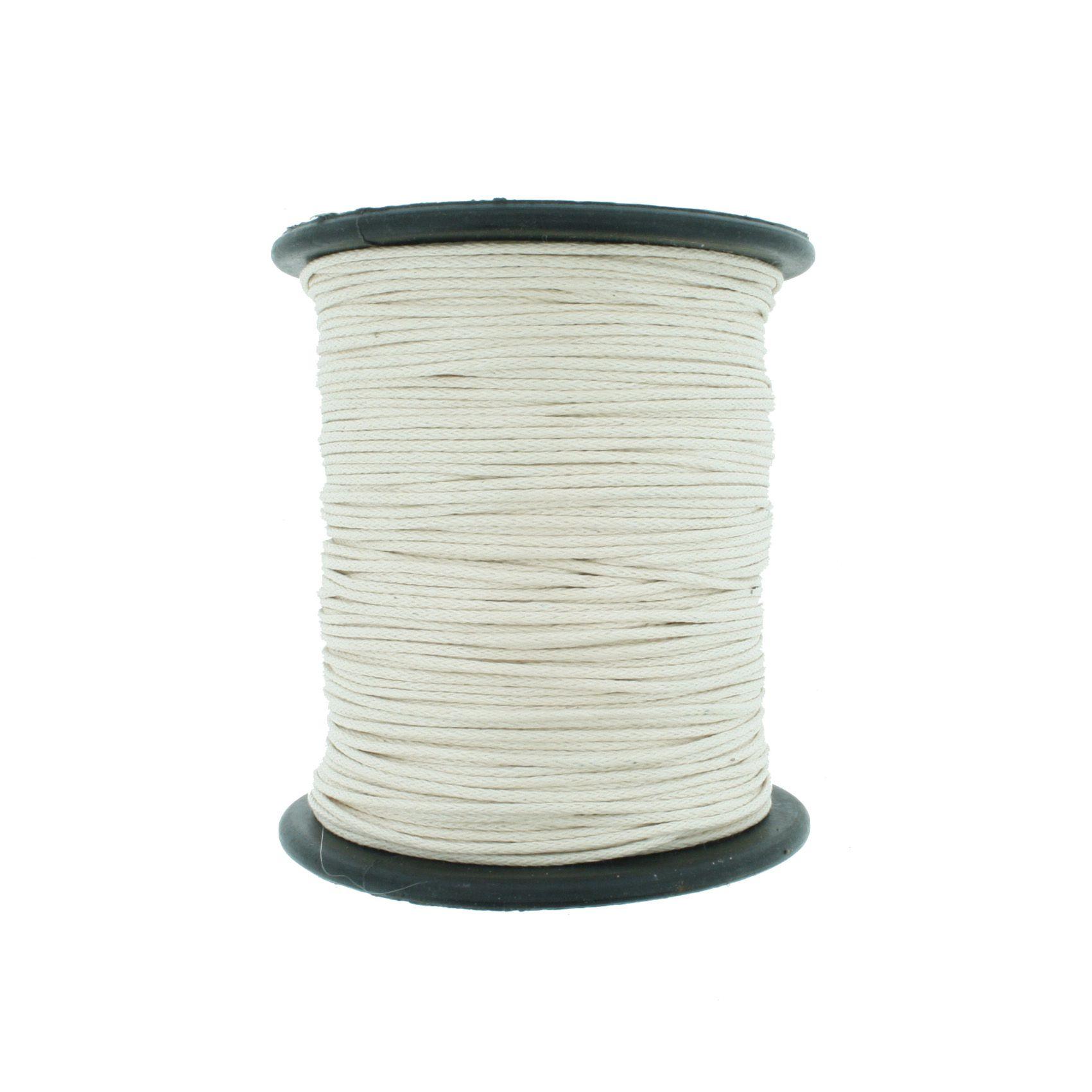 Cordão Encerado - Work® - Cru - 1mm  - Stéphanie Bijoux® - Peças para Bijuterias e Artesanato